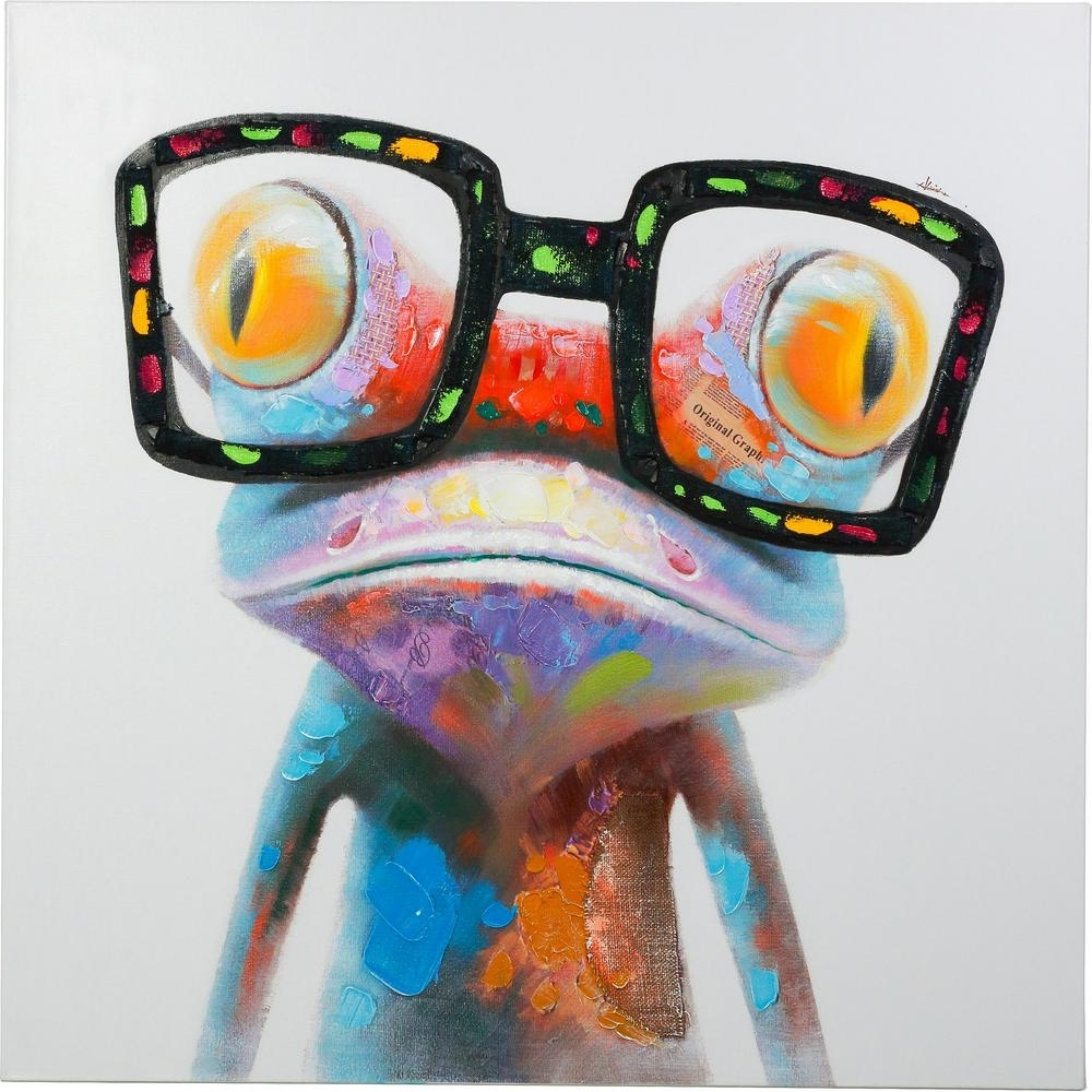 "48 In. X 48 In. ""amazing Gecko"" Hand Painted Canvas Wall Art 