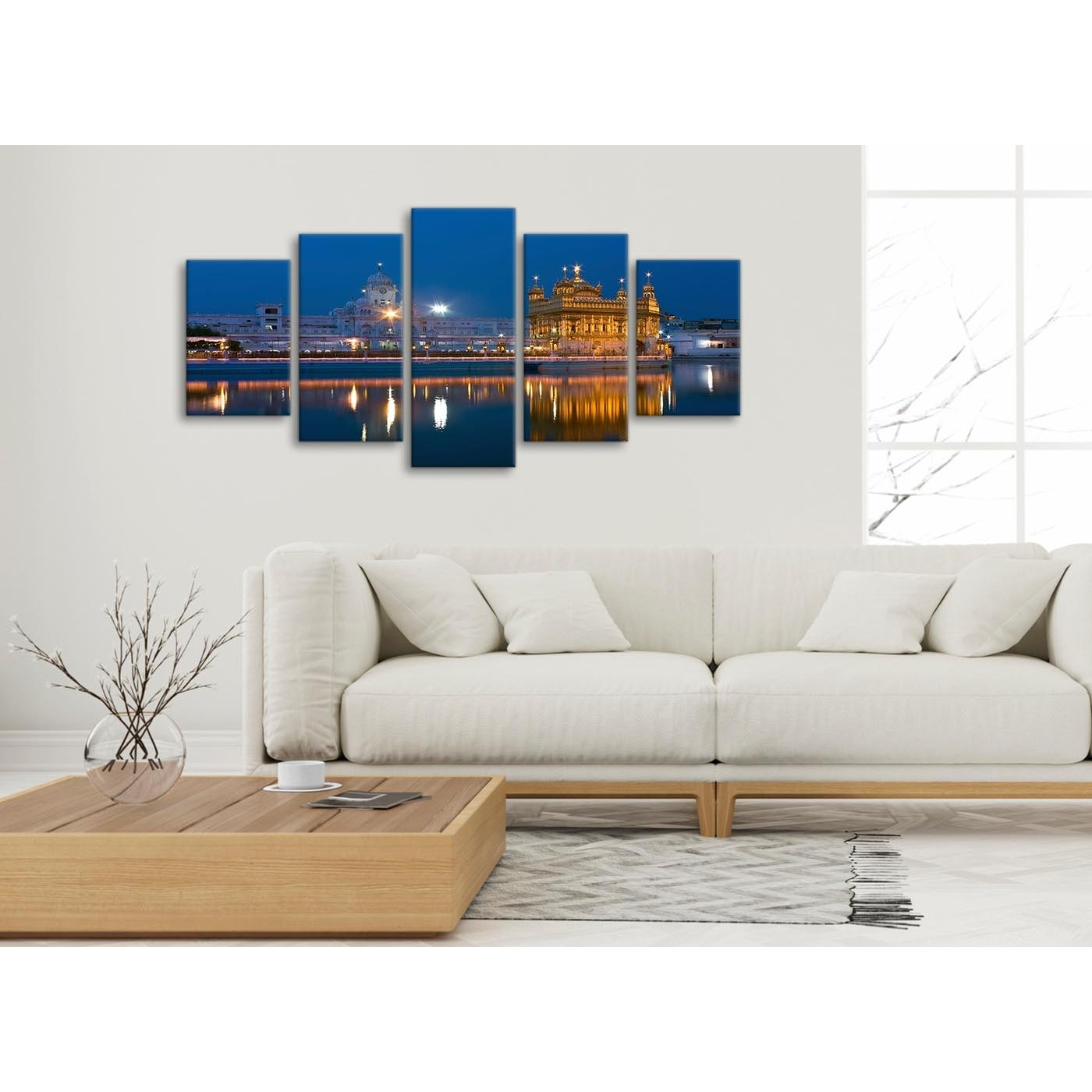 5 Panel Canvas Wall Art Pictures - Sikh Golden Temple Amritsar intended for Most Current 5 Piece Wall Art
