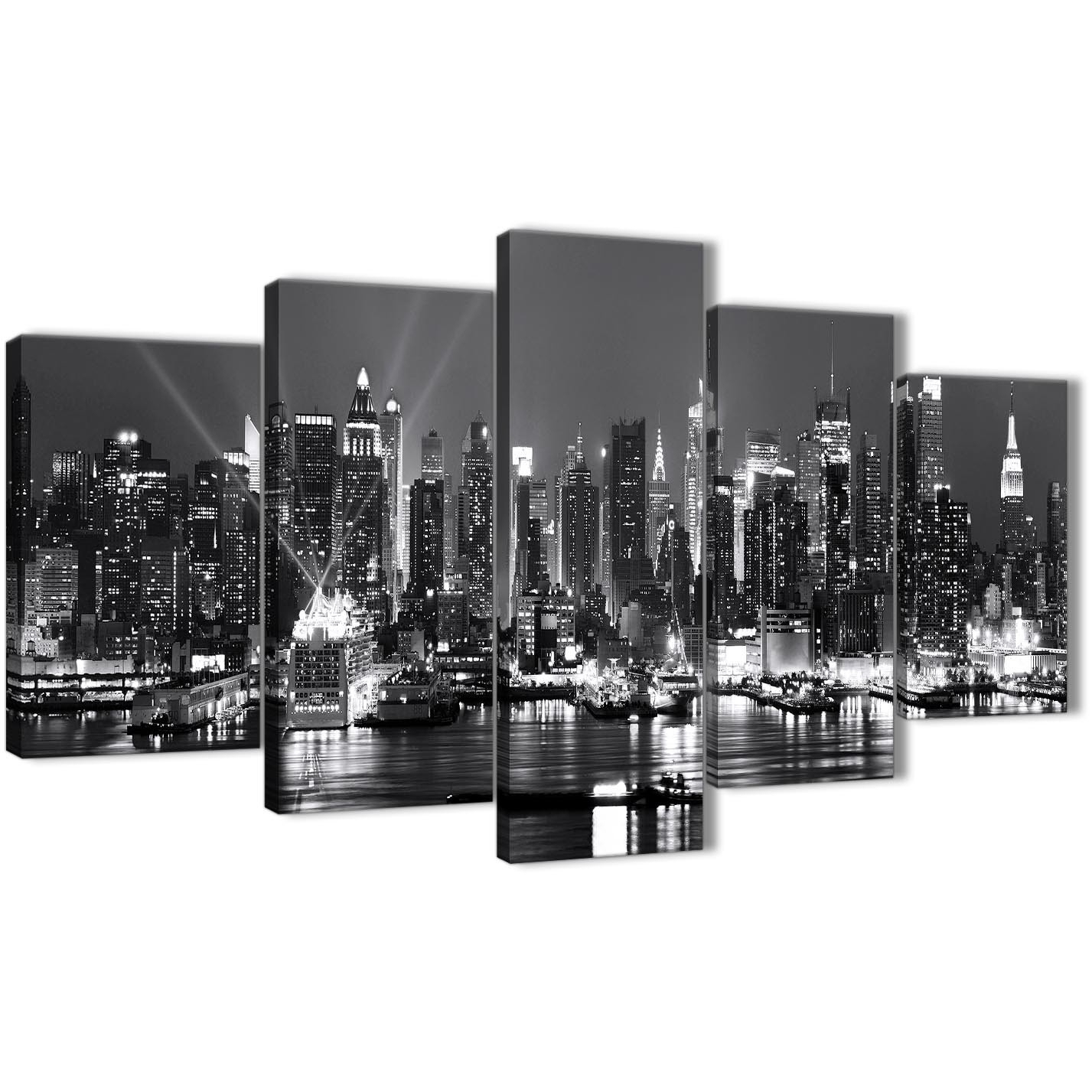 5 Panel Landscape Canvas Wall Art Prints – New York Hudson River In 2017 New York Wall Art (View 2 of 20)