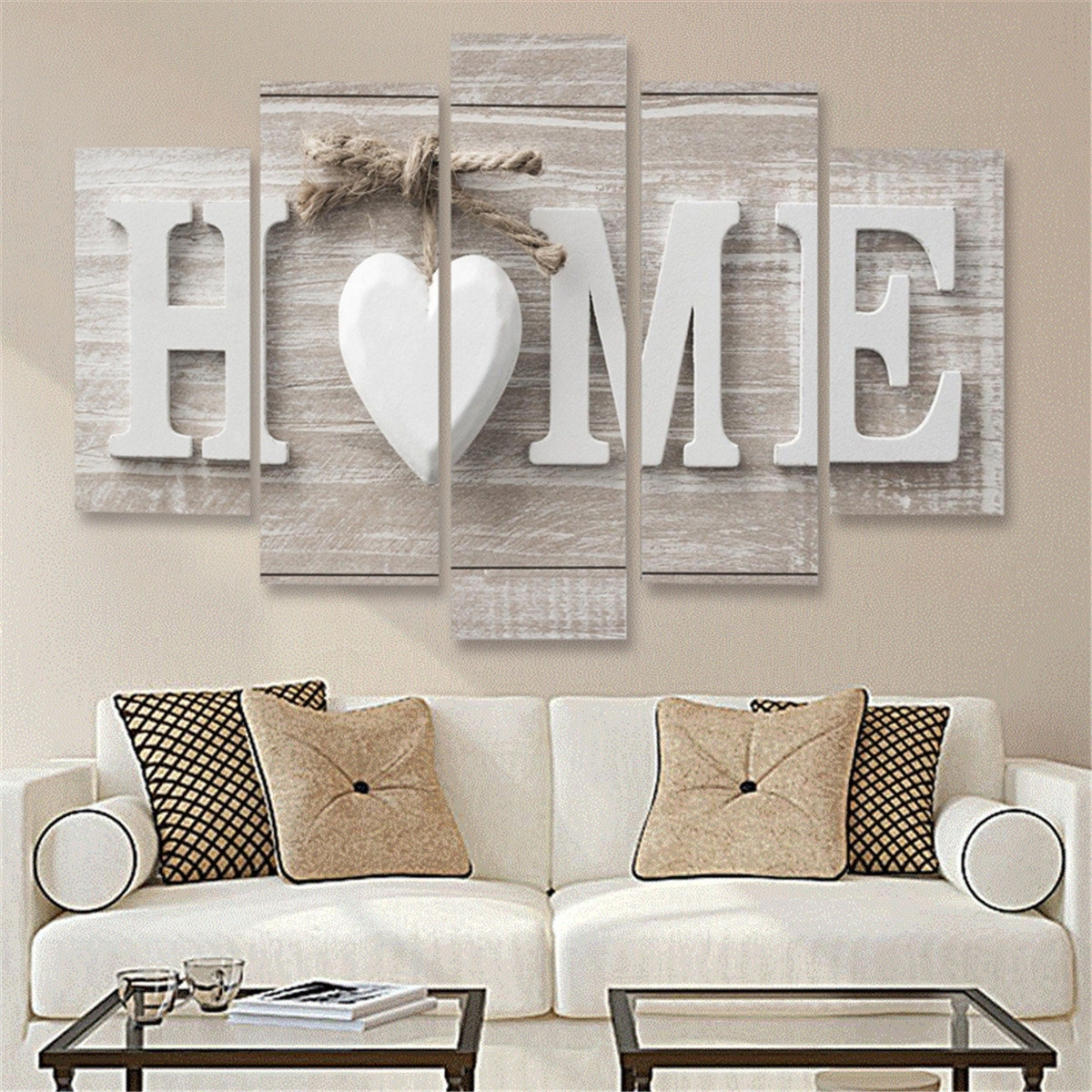 5 Panels Love Home Wall Art Print Pictures Canvas Wall Art Prints pertaining to 2017 Home Wall Art