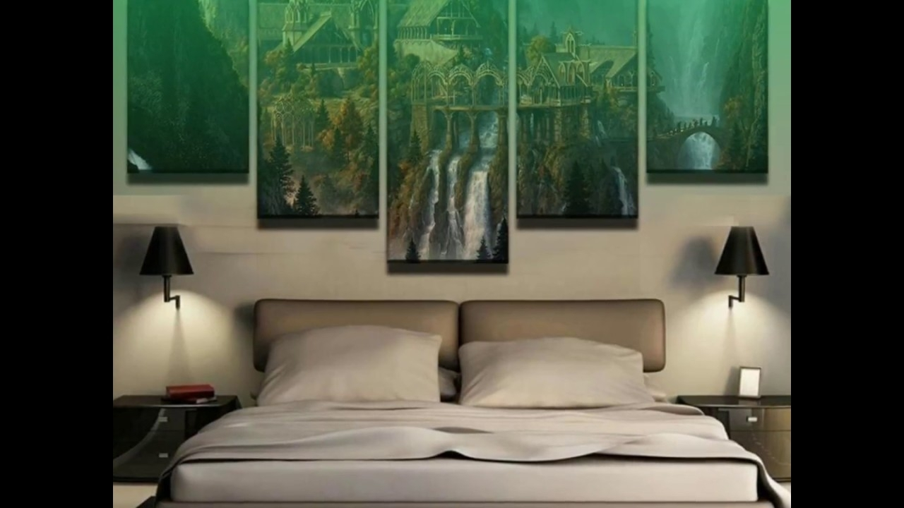 5 Piece Lord Of The Rings Rivendell Canvas Wall Art Paintings – Youtube With Most Recently Released Lord Of The Rings Wall Art (View 3 of 20)