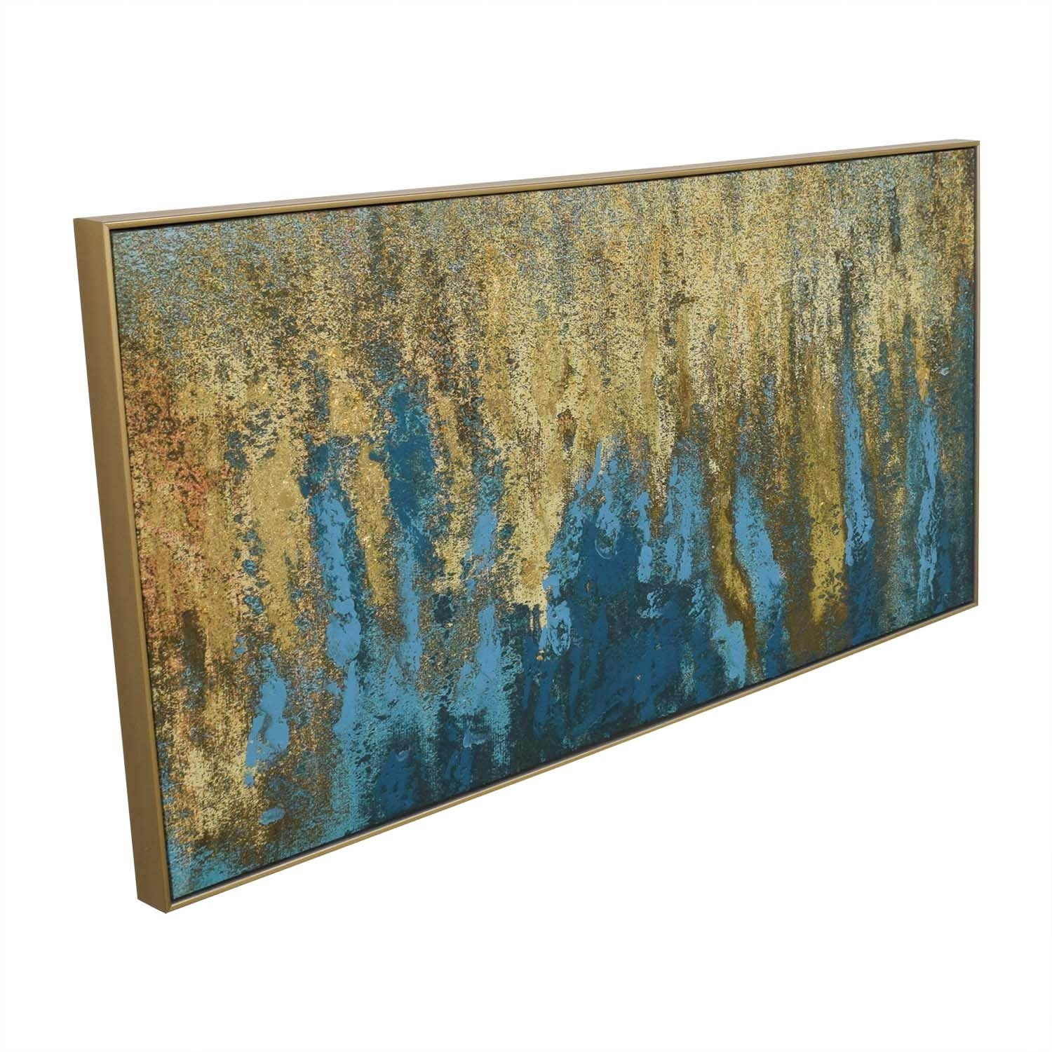 59% Off – World Market World Market Teal & Gold Wall Art In Gold With Most Up To Date World Market Wall Art (View 3 of 20)