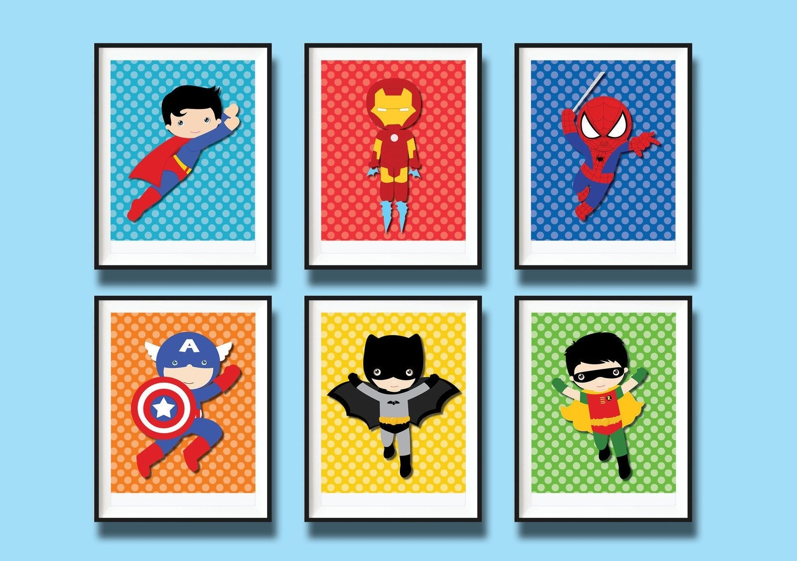 Featured Photo of Superhero Wall Art
