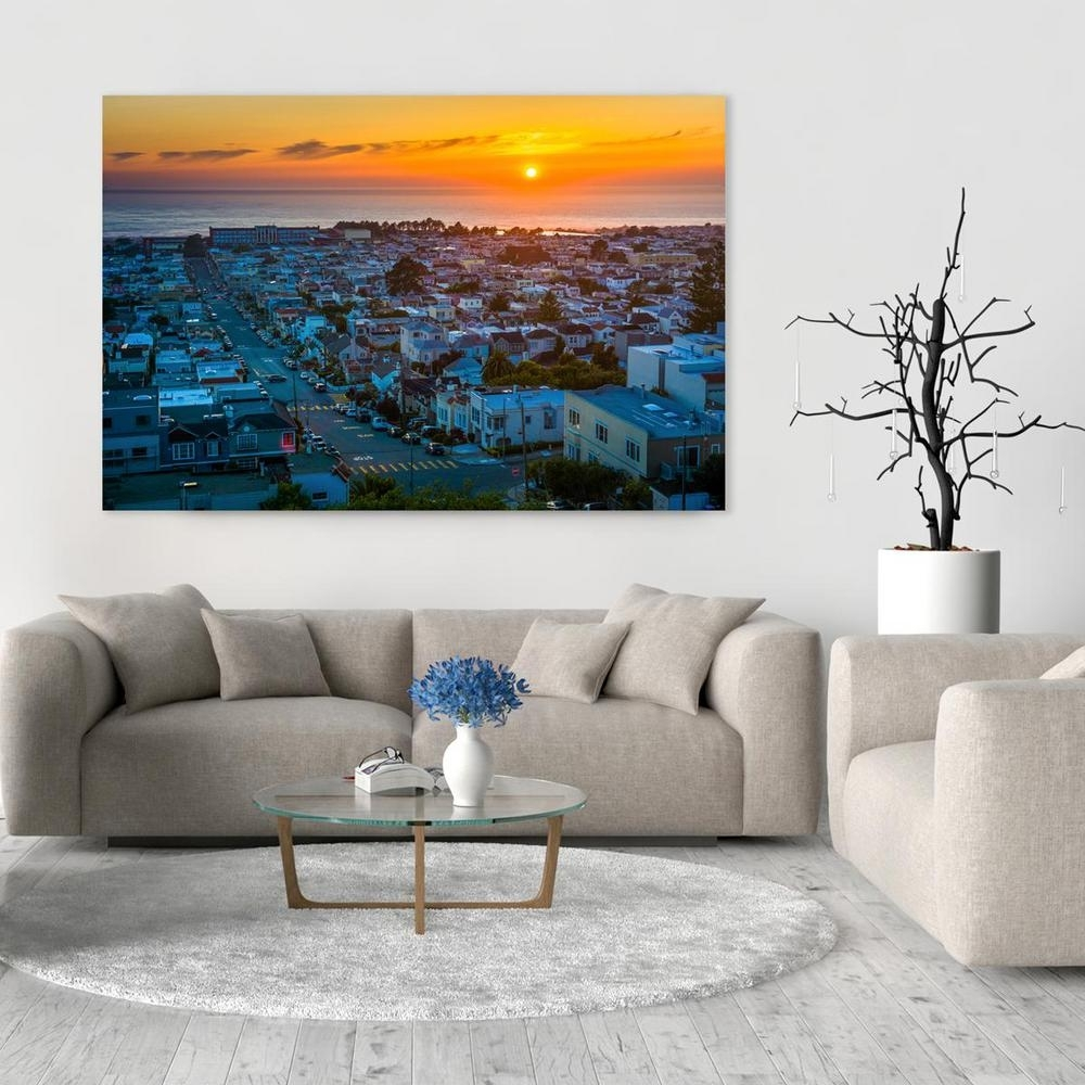 "8 In. X 12 In. ""view Of The Sunset District And Pacific Ocean, San Throughout Most Recent California Wall Art (Gallery 4 of 20)"