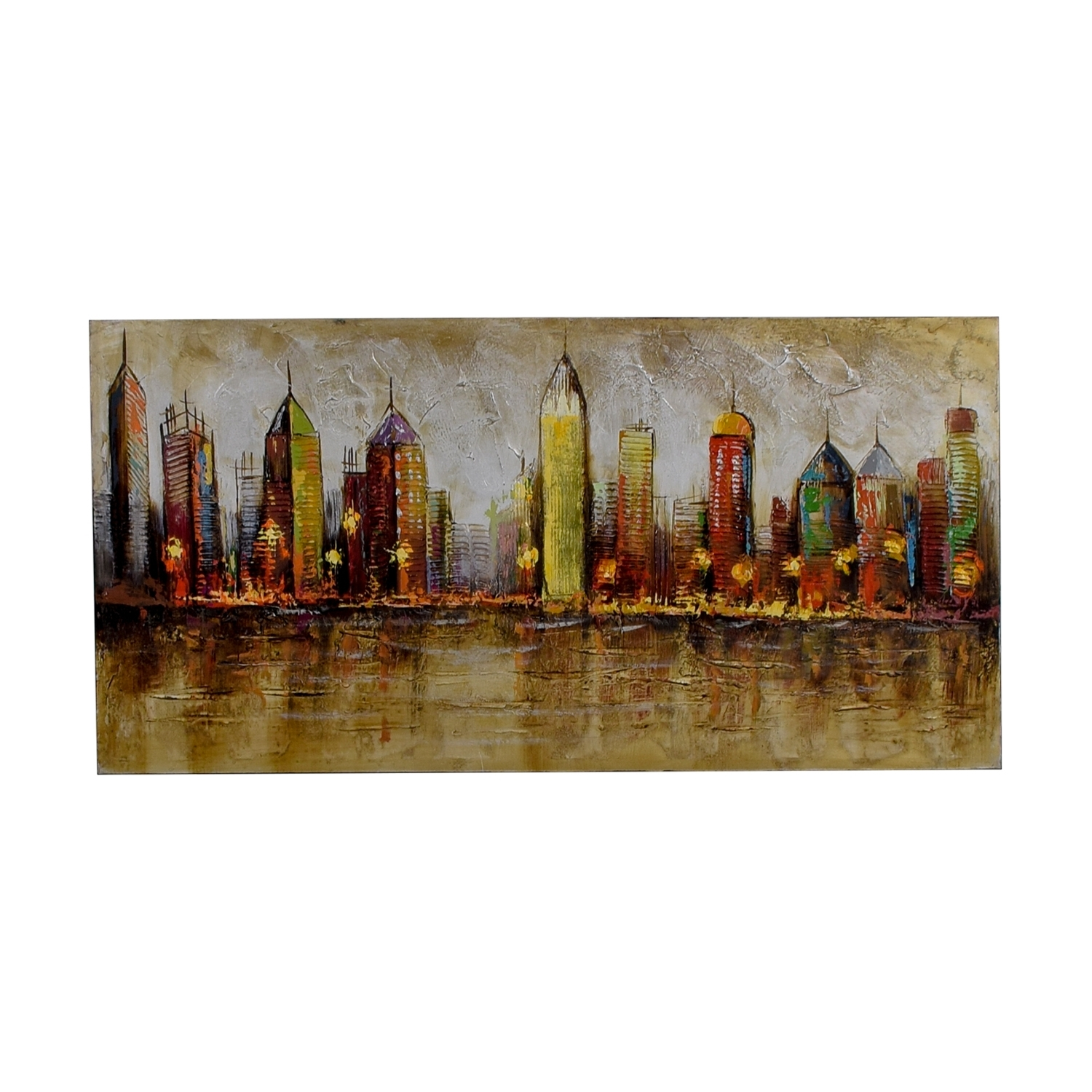 80% Off – Pier 1 Imports Pier 1 Imports Cityscape Painting / Decor With 2017 Pier 1 Wall Art (View 2 of 20)