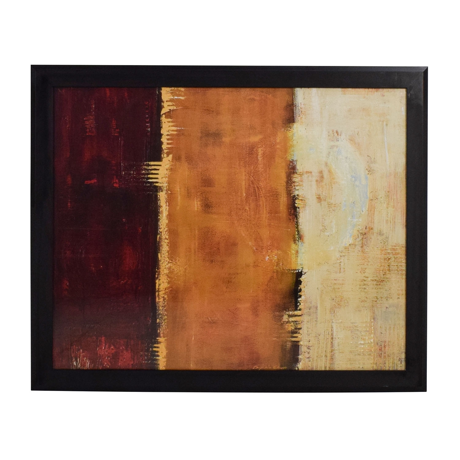 88% Off – Z Gallerie Z Gallerie Framed Canvas Red Orange Yellow Wall With Regard To Latest Z Gallerie Wall Art (View 2 of 15)