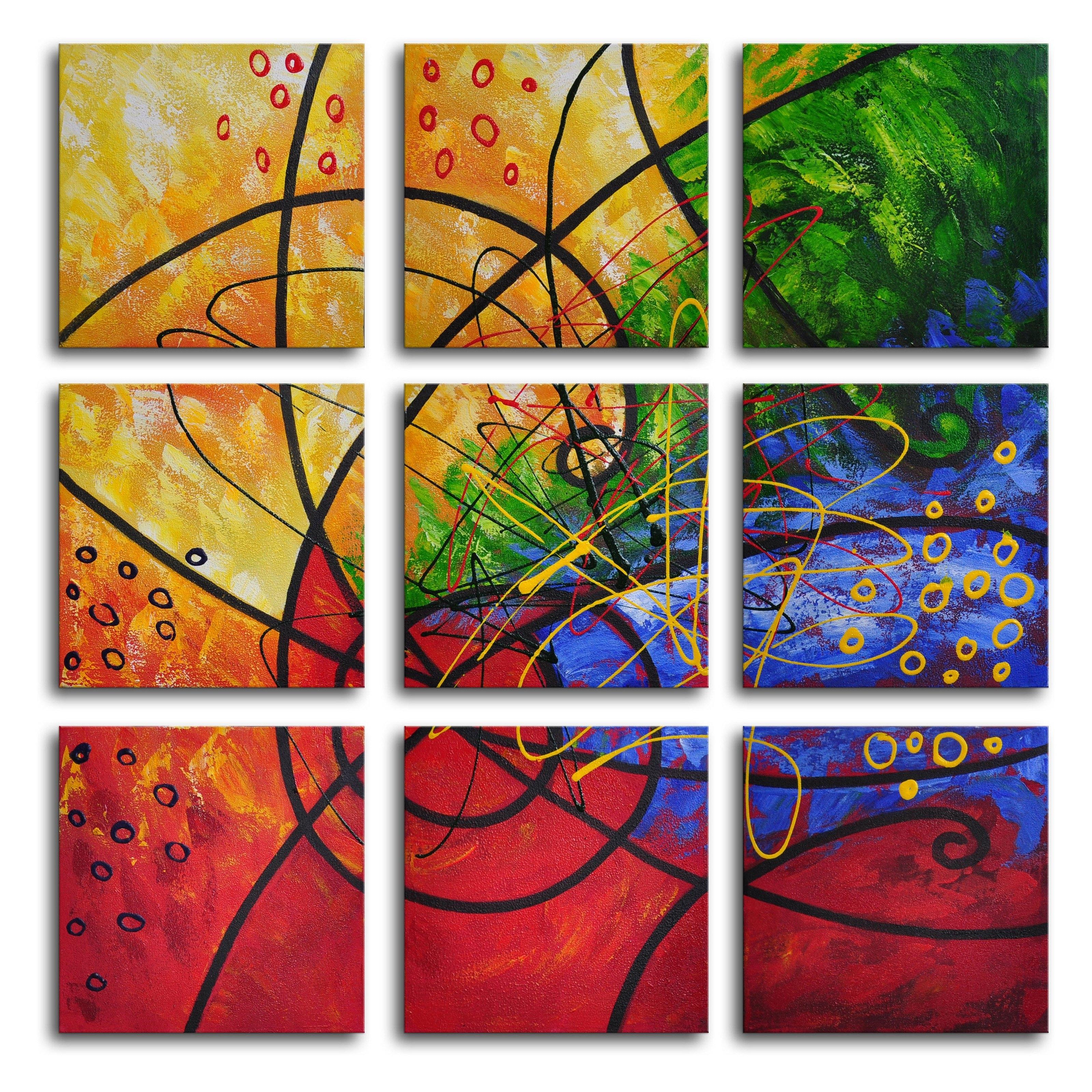 9 Piece Canvas Wall Art | Sevenstonesinc Regarding Newest Tile Canvas Wall Art (View 19 of 20)