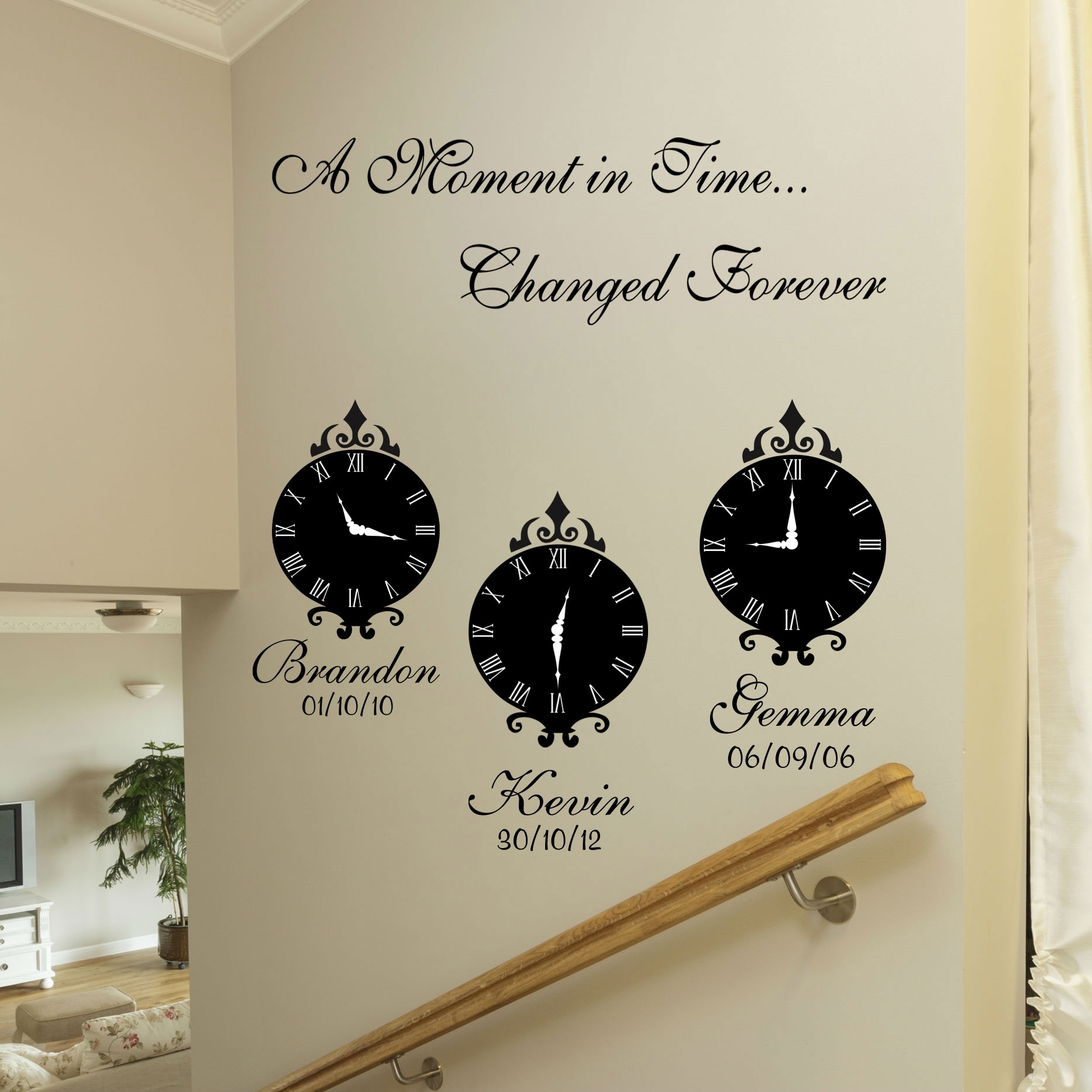 A Moment In Time Wall Art Stickers Throughout Recent Wall Art Quotes (View 1 of 20)