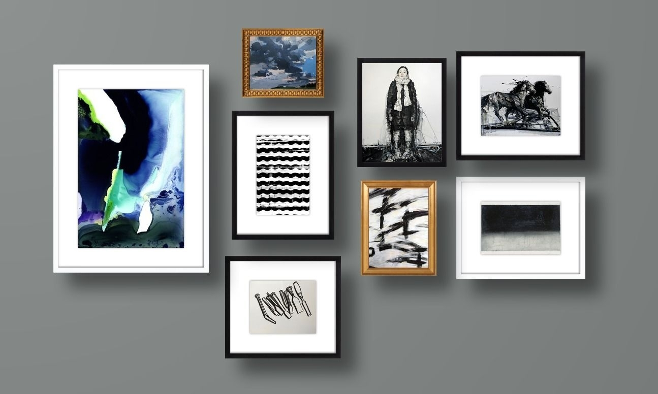 A Moody Mix On | Walls And Contemporary Intended For Most Recent Artfully Walls (View 1 of 15)