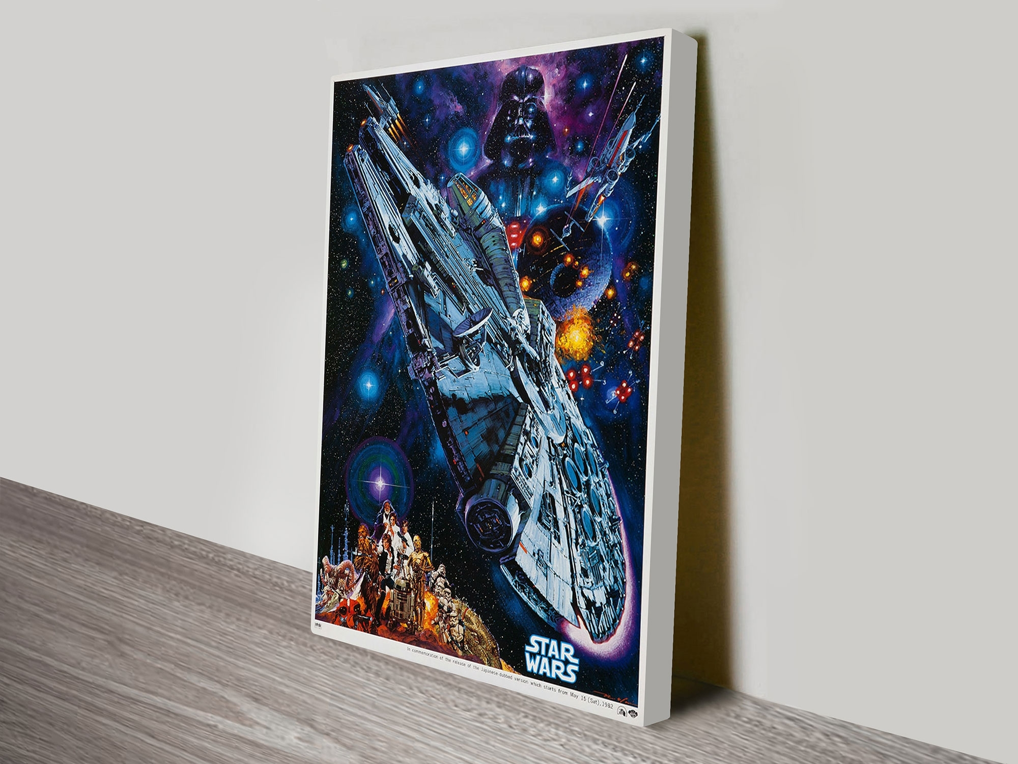 A New Hope Star Wars Poster Framed Wall Art Sydney Australia Within Best And Newest Star Wars Wall Art (View 2 of 15)