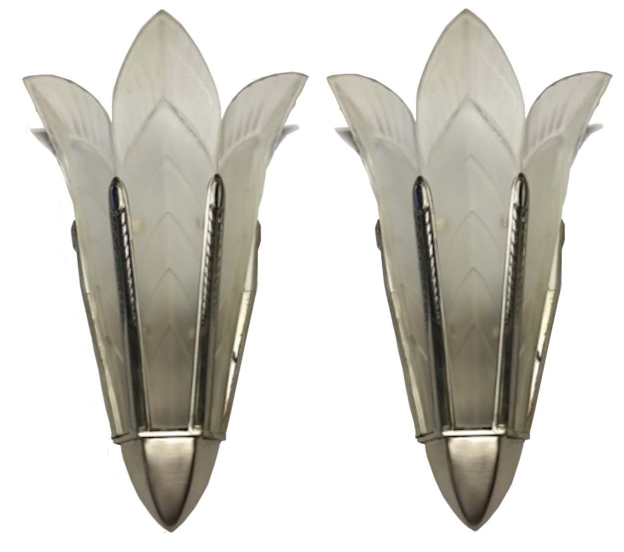 A Pair Of Signed Sabino French Art Deco Wall Sconces | Modernism In 2017 Art Deco Wall Sconces (View 1 of 20)
