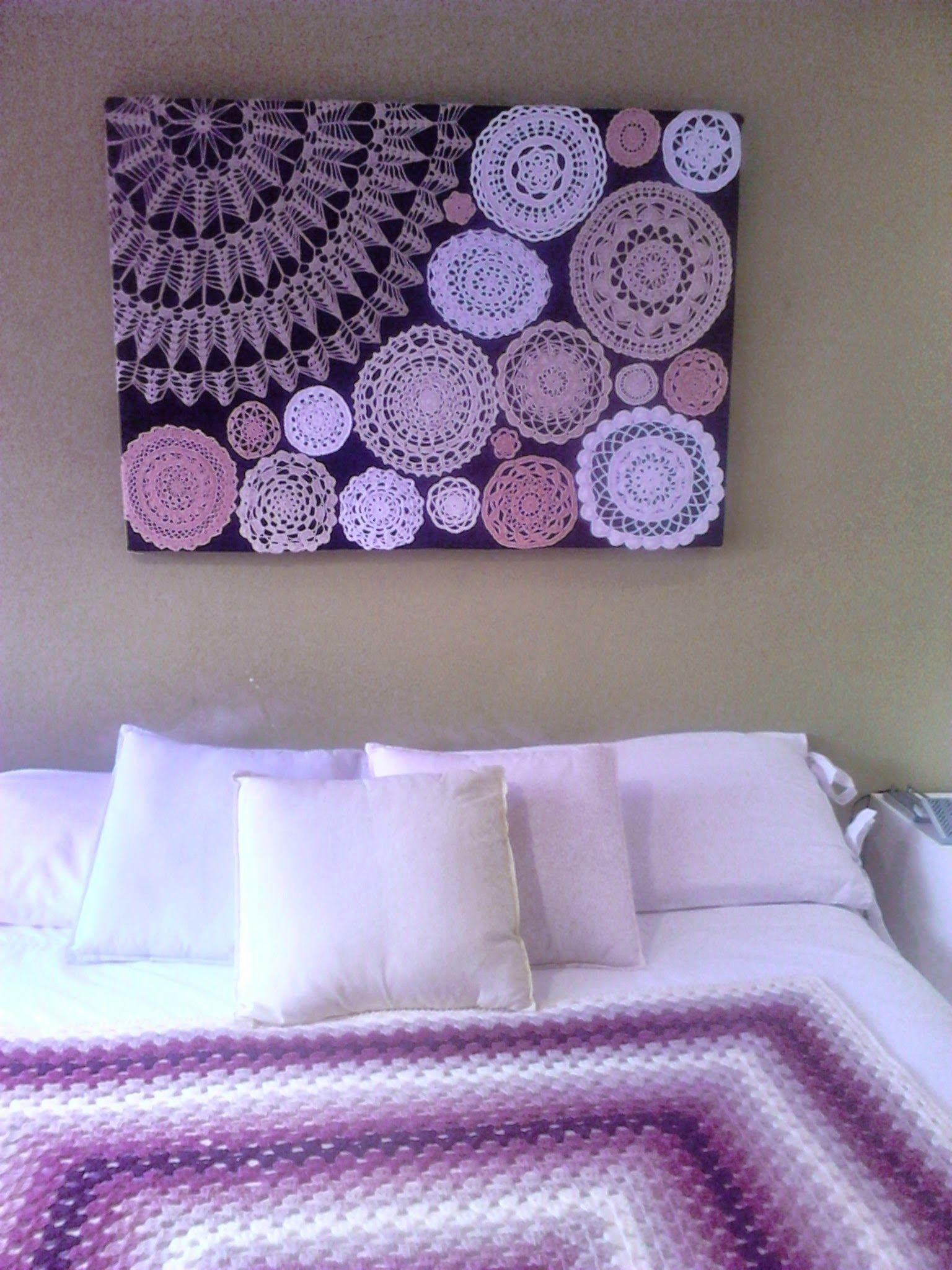 A Quick Sharesies! | Ball Workouts | Pinterest | Crochet Doilies Pertaining To Recent Crochet Wall Art (View 2 of 20)