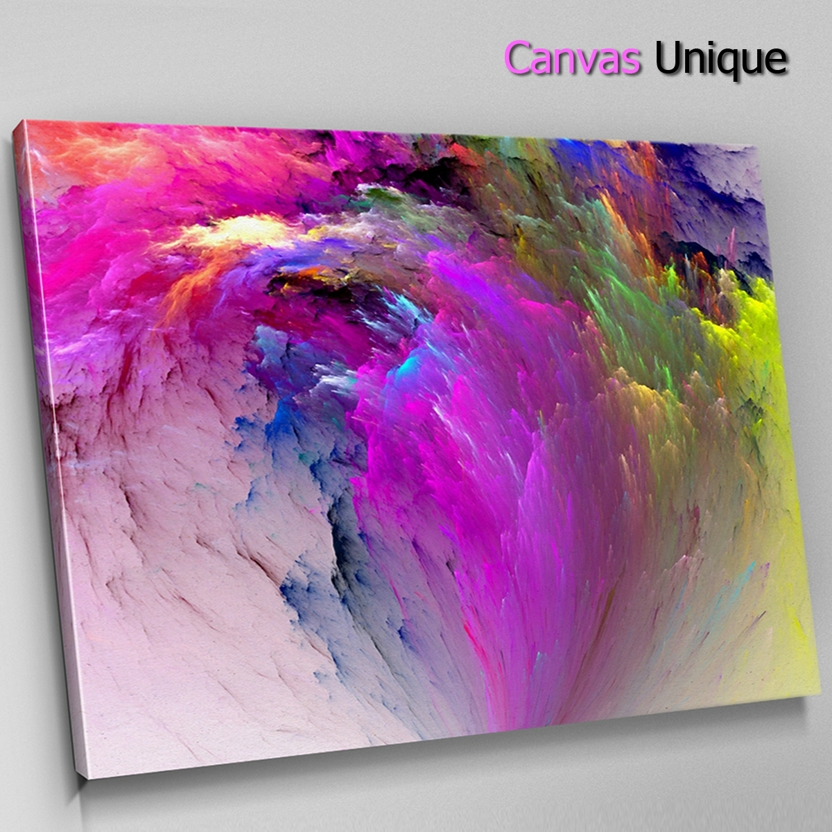 Ab1269 Purple Yellow Twist Modern Abstract Wall Art Picture Large Throughout Most Popular Modern Large Canvas Wall Art (View 14 of 20)