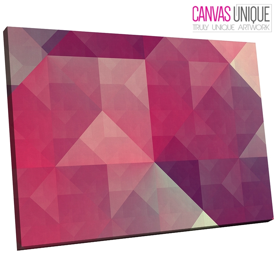 Ab300 Pink Grey Geometric Shapes Abstract Canvas Wall Art Framed Inside Best And Newest Pink Wall Art (View 14 of 20)