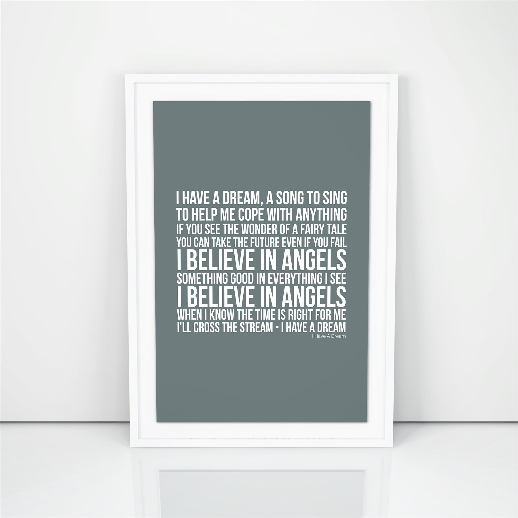 Abba I Have A Dream Lyrics Wall Art Song A4 A3 Size Picture Modern Within Current Song Lyric Wall Art (View 11 of 20)