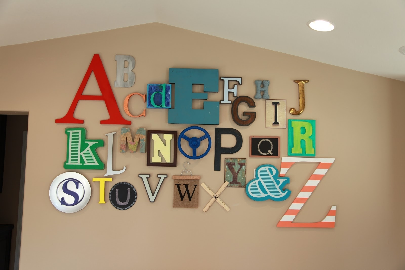Abc Alphabet Wall • Color Made Happy Intended For 2018 Letter Wall Art (View 1 of 20)