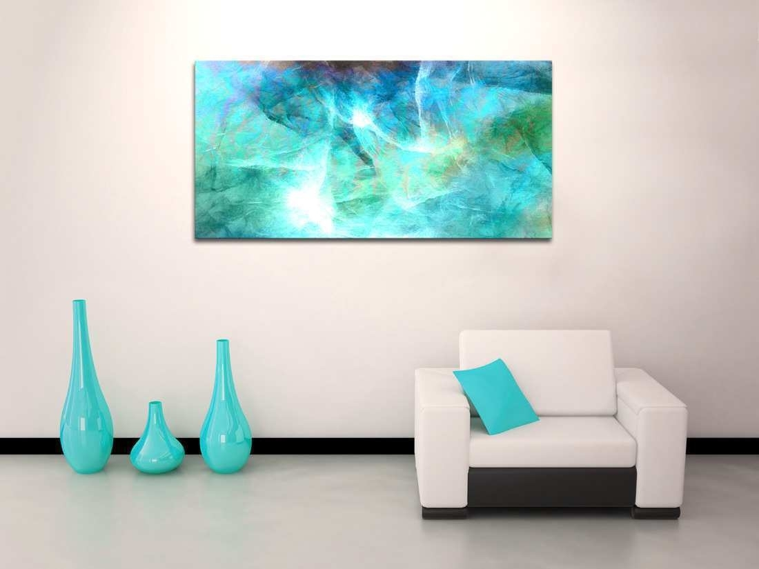 Abstract Canvas Wall Art Awesome Oversized Abstract Canvas Art With Regard To Current Oversized Teal Canvas Wall Art (View 7 of 20)
