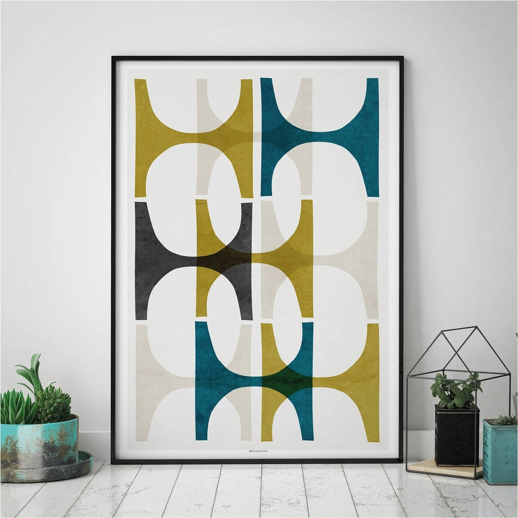 Abstract Geometric Wall Art Printbronagh Kennedy – Art Prints In Recent Wall Art Prints (View 15 of 20)