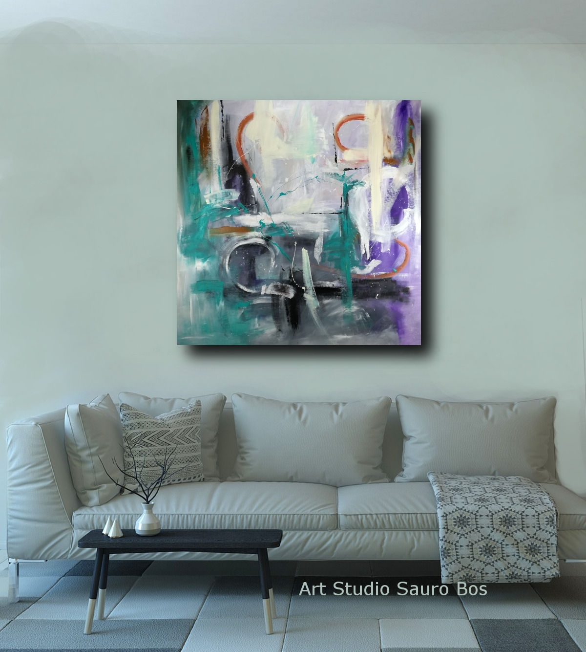Abstract Oil Painting Wall Art 120x120 With Most Recently Released Large Canvas Painting Wall Art (View 11 of 20)