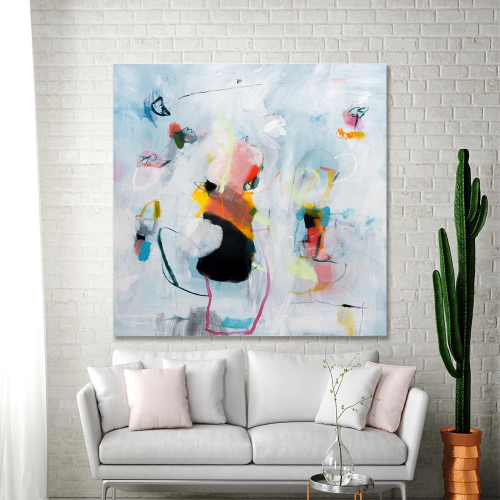 Abstract Painting Extra Large Wall Art White Living Room Abstract For Most Recent Extra Large Wall Art (View 3 of 20)