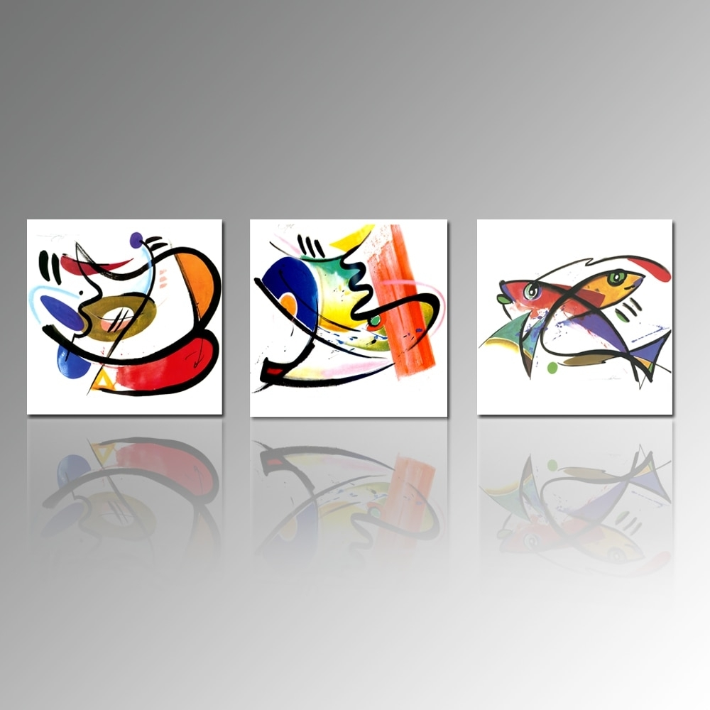 Abstract Painting Print On Canvas Fish Picture Printing Kitchen Wall Within Recent Kitchen Canvas Wall Art Decors (View 15 of 20)