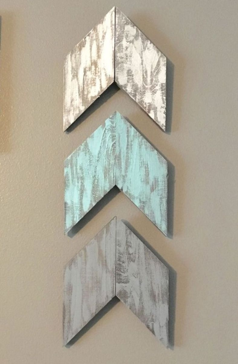 Adorable Diy With Mirrors Rustic Wall Art Ideas Pallet Wood Painted Pertaining To Most Recent Arrow Wall Art (View 3 of 20)
