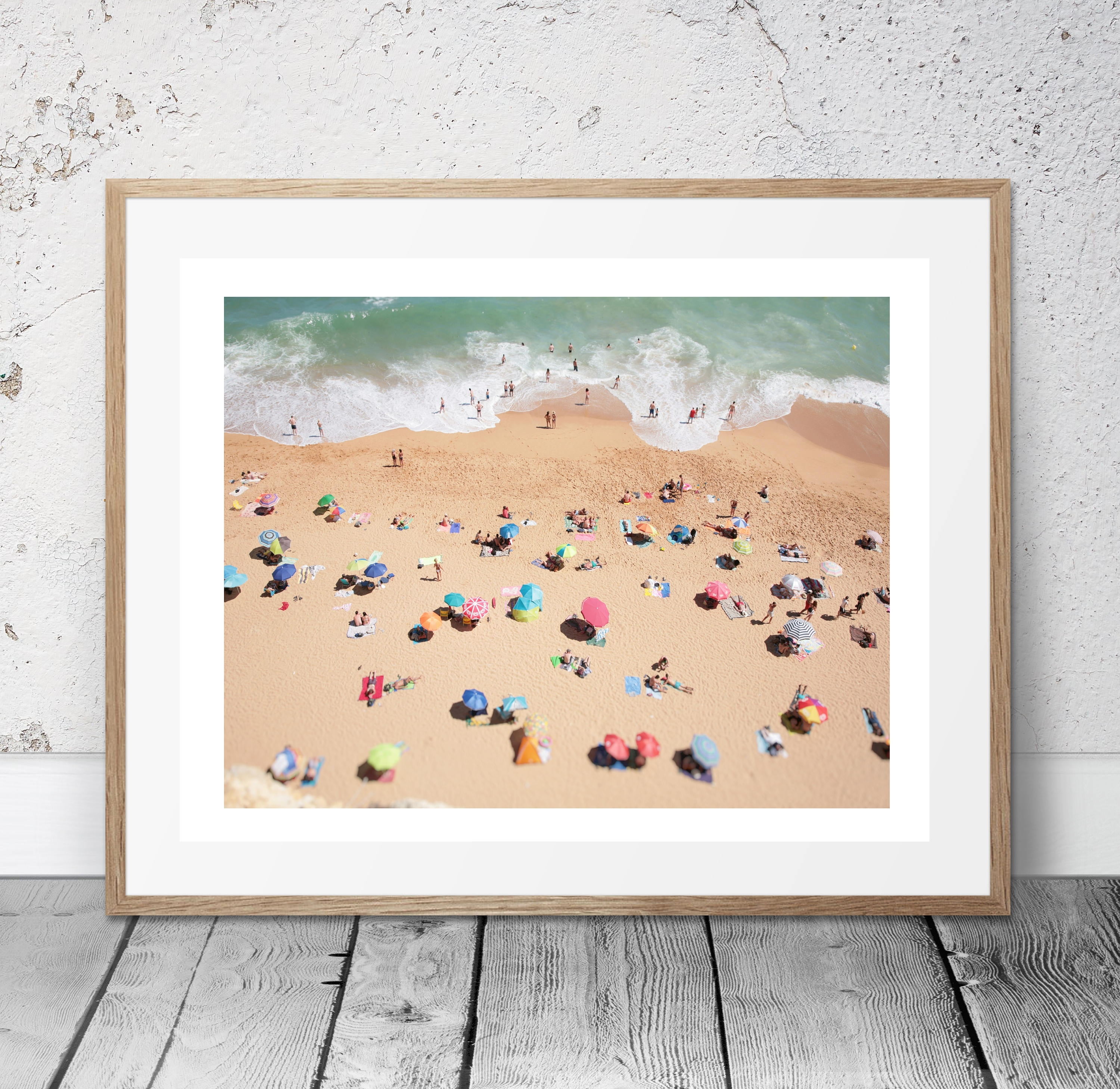 Aerial Beach Photo, People On The Beach, Modern Wall Art, Beach For Latest Large Coastal Wall Art (View 8 of 20)