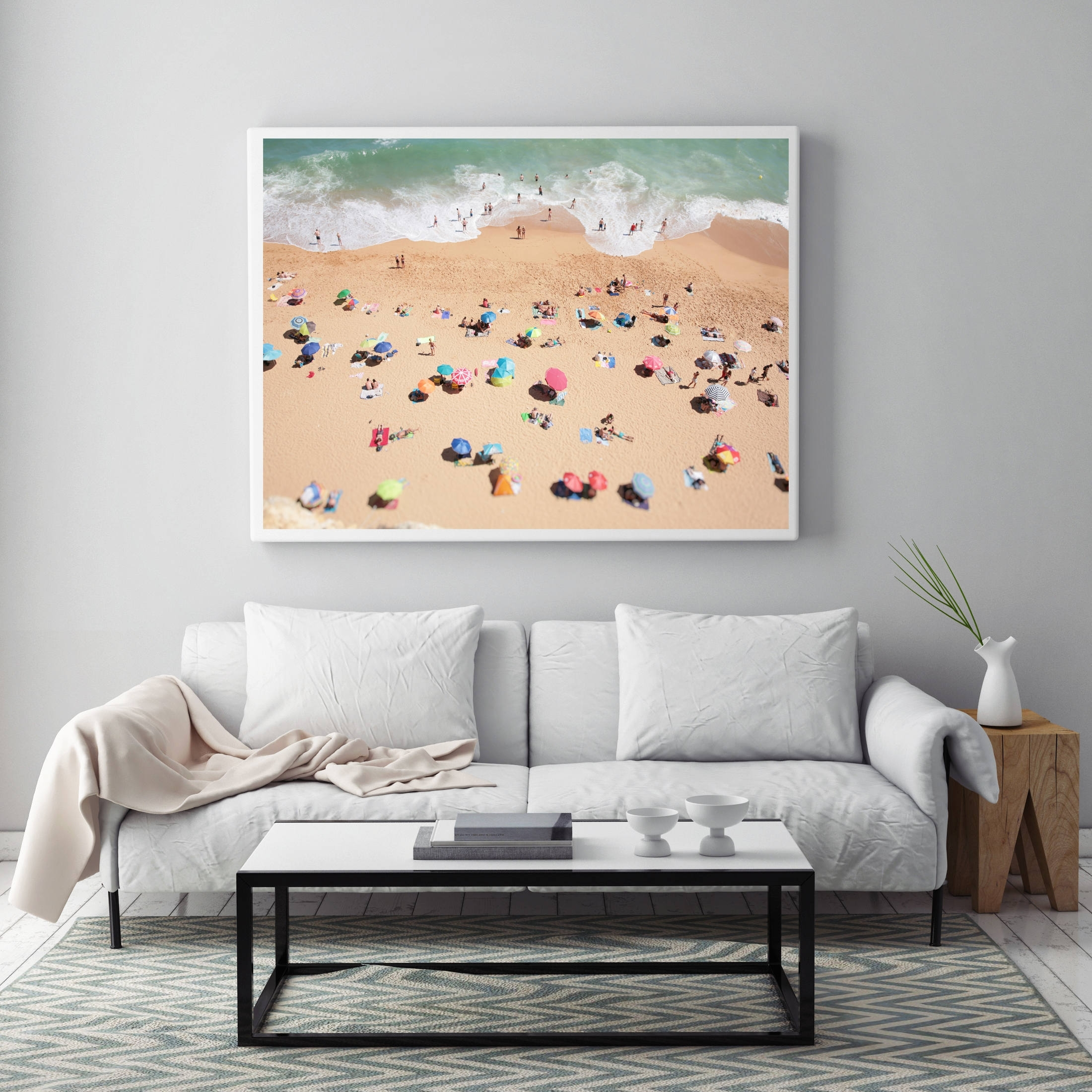 Aerial Beach Photo, People On The Beach, Modern Wall Art, Beach With Regard To Newest Large Coastal Wall Art (View 9 of 20)