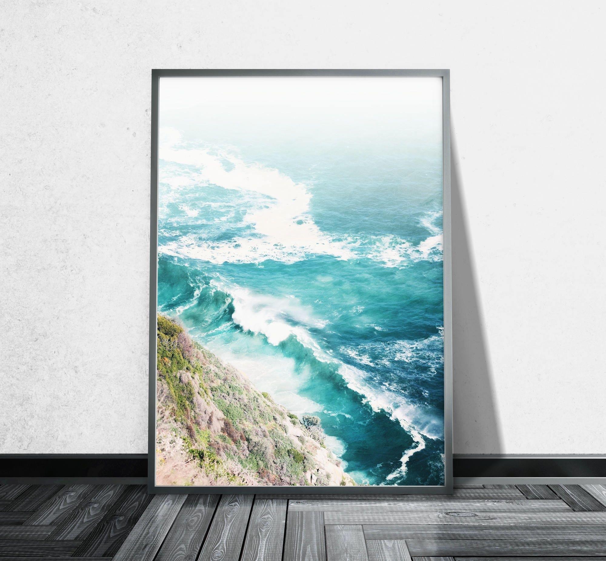 Aerial Beach Photography Ocean Canvas Wall Art Aerial Photography Throughout Current Ocean Wall Art (View 6 of 20)