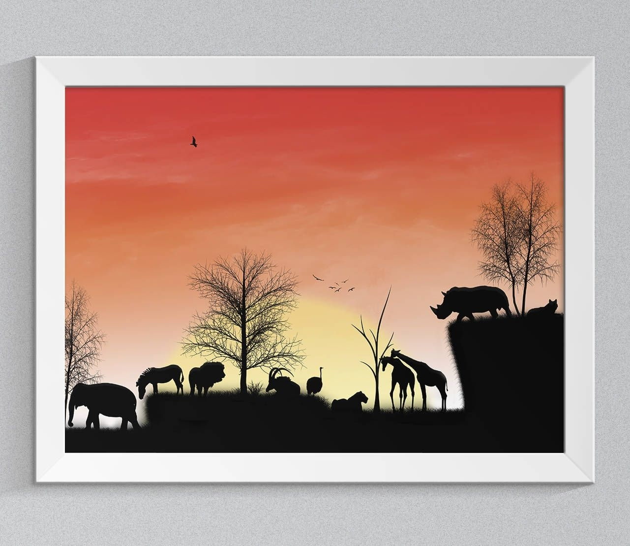 African Digital Print, African Wall Decor, African Backdrop, African In Latest African Wall Art (View 15 of 15)