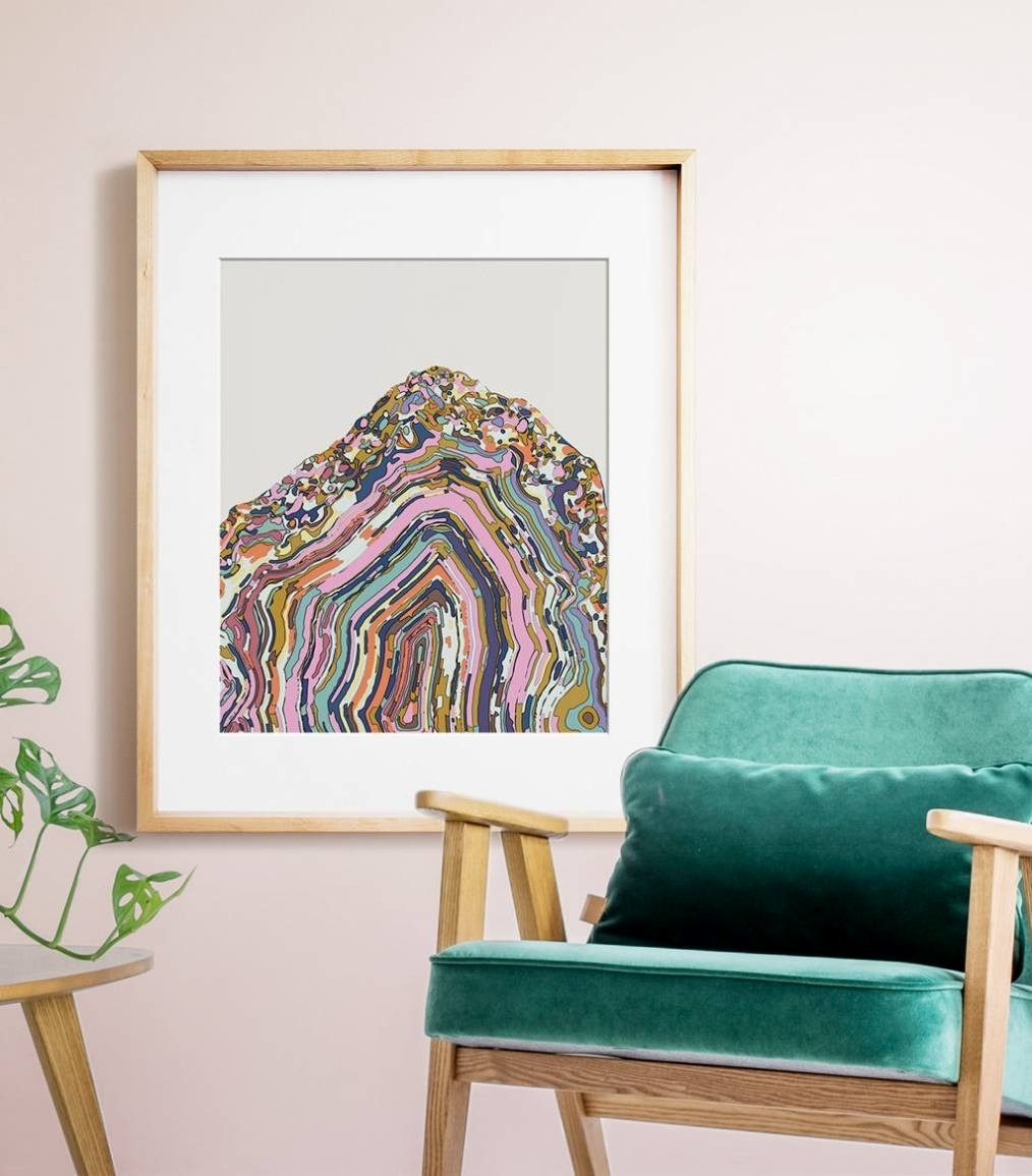 Agate Wall Art – Arsmart Within Latest Agate Wall Art (View 3 of 20)