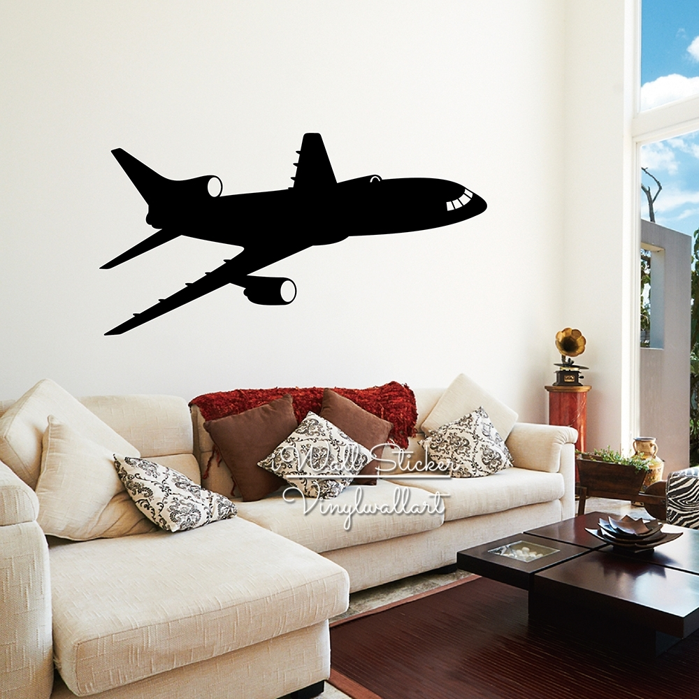 Airplane Wall Sticker Modern Airplane Wall Decal Diy Modern Wall Art In 2018 Airplane Wall Art (View 9 of 20)