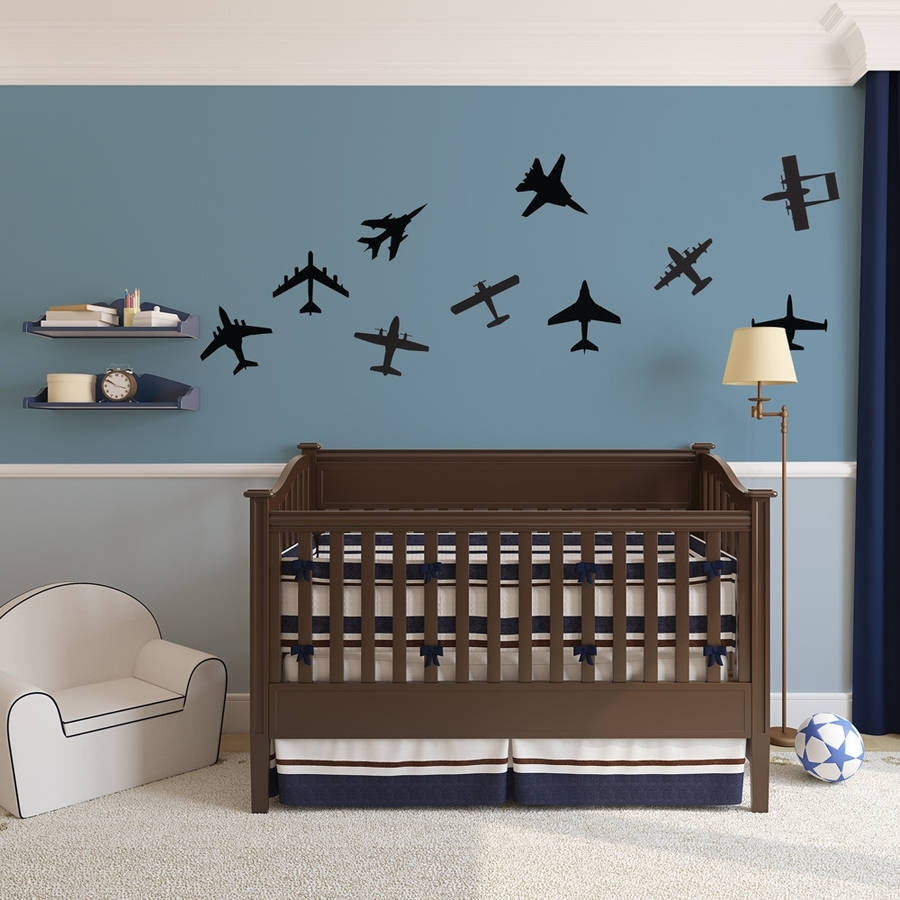 Airplanes Wall Art Decal Pack For Kidsvinyl Revolution Throughout 2018 Airplane Wall Art (View 10 of 20)