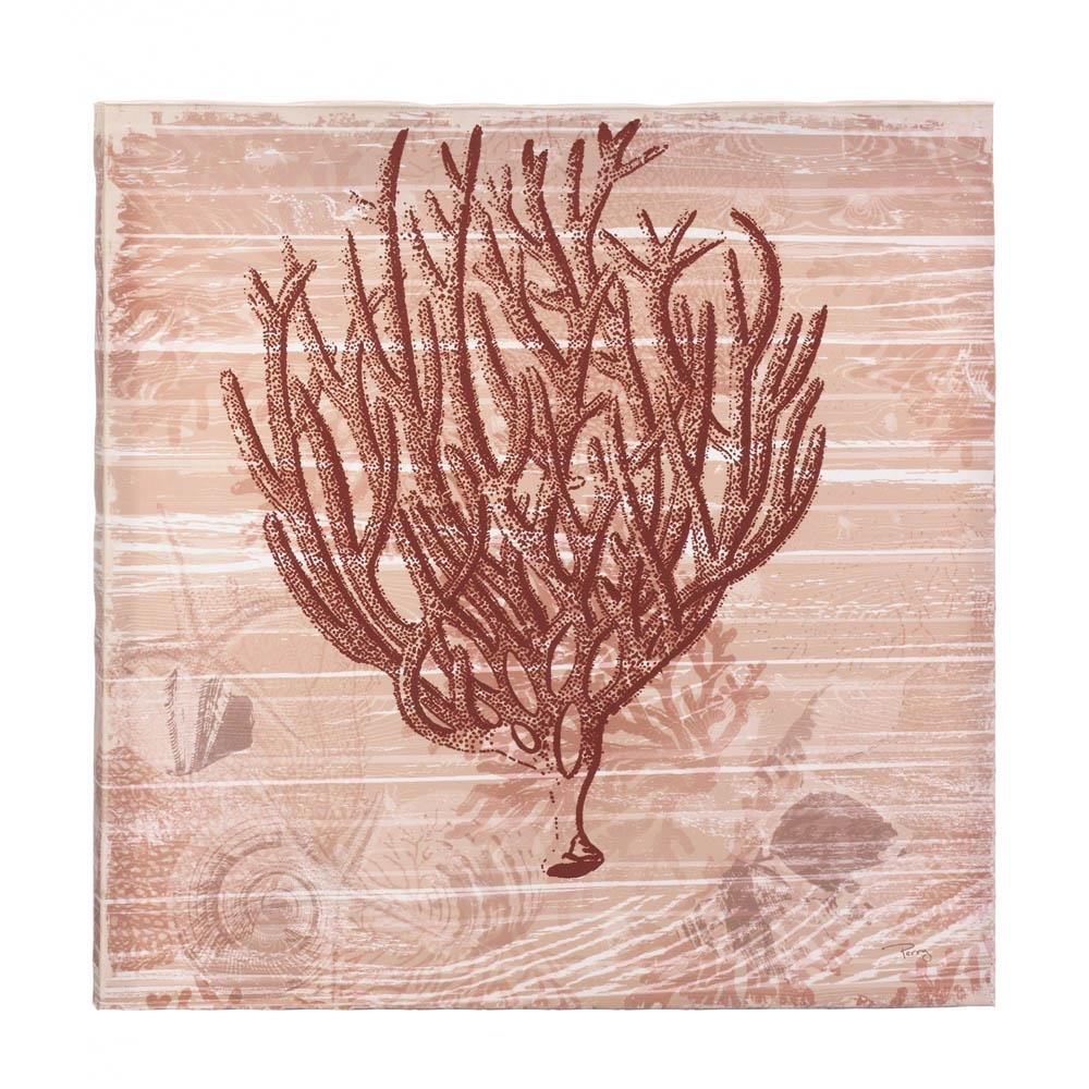 All Good Decor – Seaside Coral Canvas Wall Art Intended For Current Coral Wall Art (View 2 of 20)