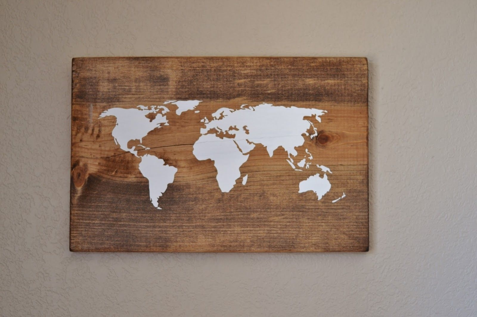 All Things Bright And Beautiful: Diy World Map Wall Art – Very Cool Throughout Most Up To Date Diy World Map Wall Art (View 2 of 20)