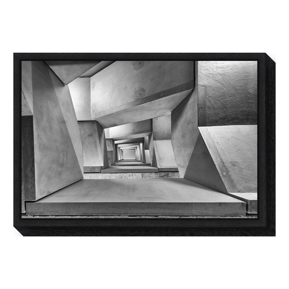 "Amanti Art ""downstairs""guy Goetzinger Framed Canvas Wall Art Inside Most Up To Date Black Wall Art (View 14 of 20)"