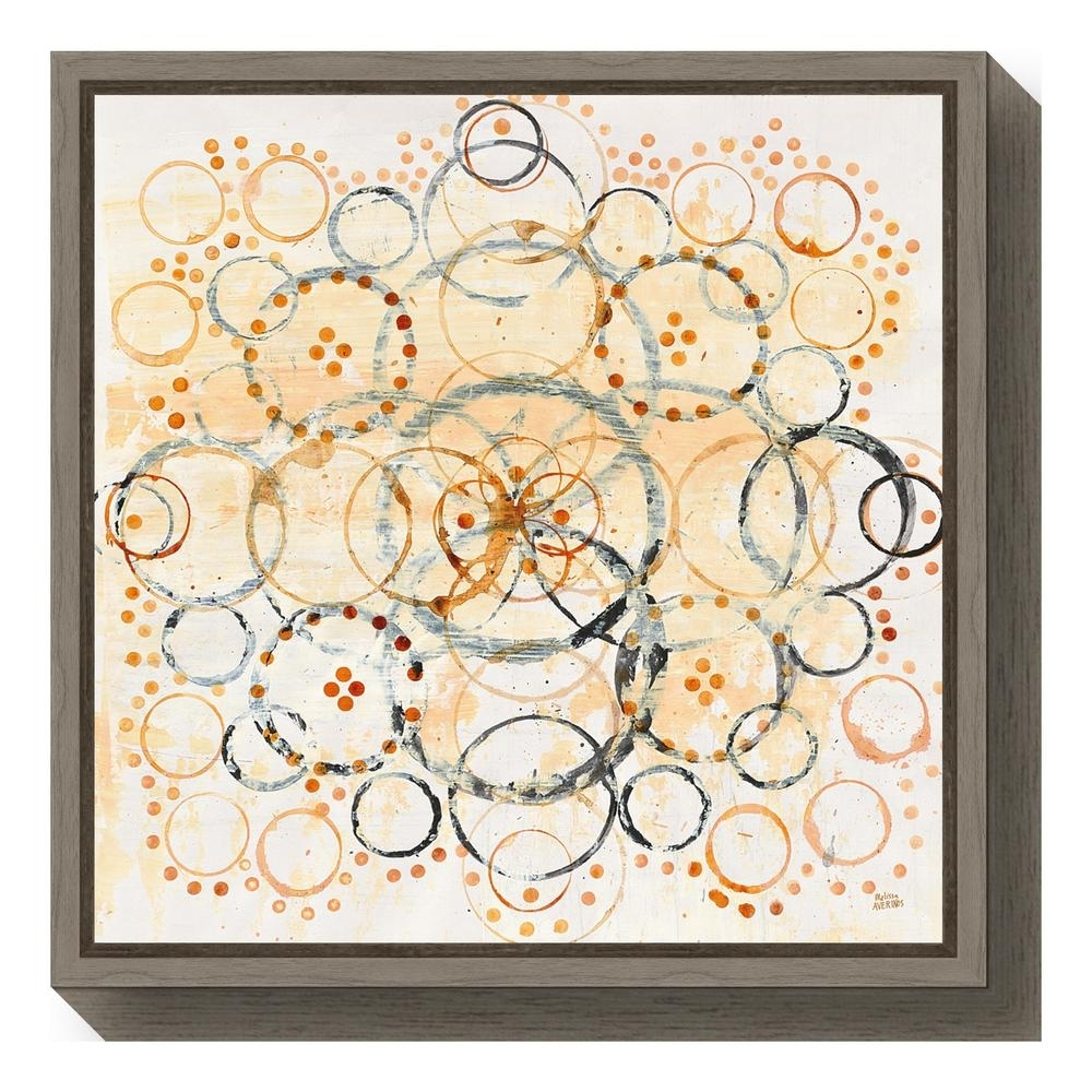 "Amanti Art ""henna Mandala Ii Crop""melissa Averinos Framed Canvas Regarding Latest Henna Wall Art (View 17 of 20)"