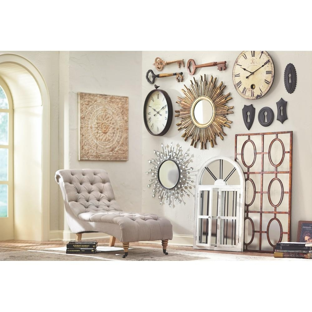 Amaryllis Metal Wall Decor In Distressed Cream 0729400440 – The Home With Regard To Most Up To Date Wall Art Decors (View 1 of 15)