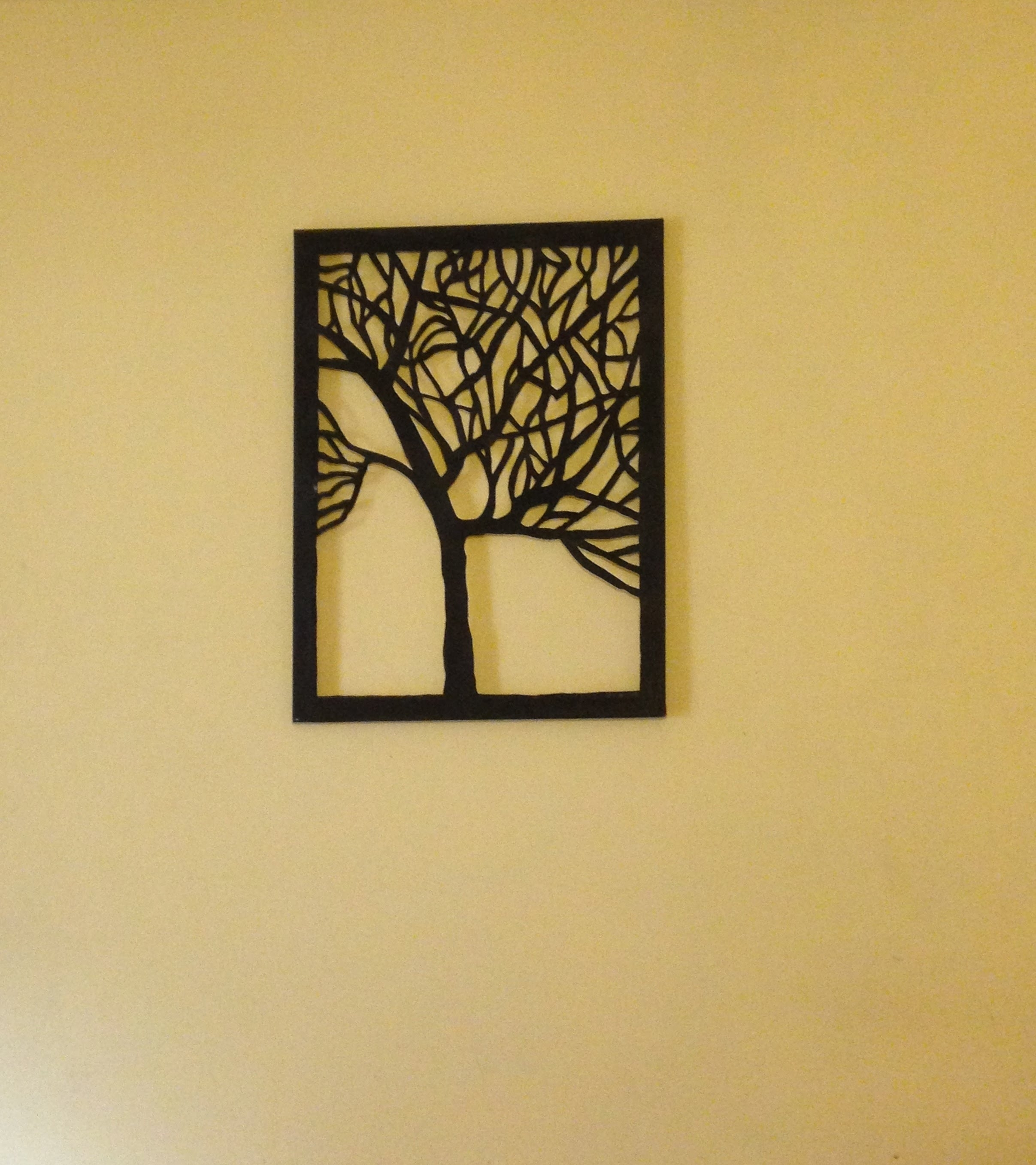 Amazing Diy Canvas Tree Cut Out (Wall Art Home Decor Idea) – Youtube Intended For Most Recent Home Decor Wall Art (View 1 of 20)