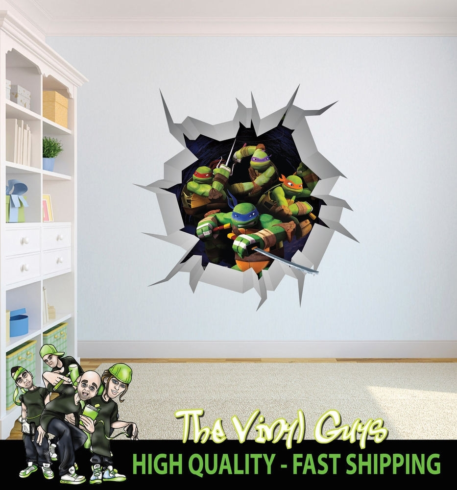 Amazing Ninja Turtle Wall Decor Ornament Art Ideas Dochista Pleasing With Regard To Best And Newest Ninja Turtle Wall Art (View 4 of 20)