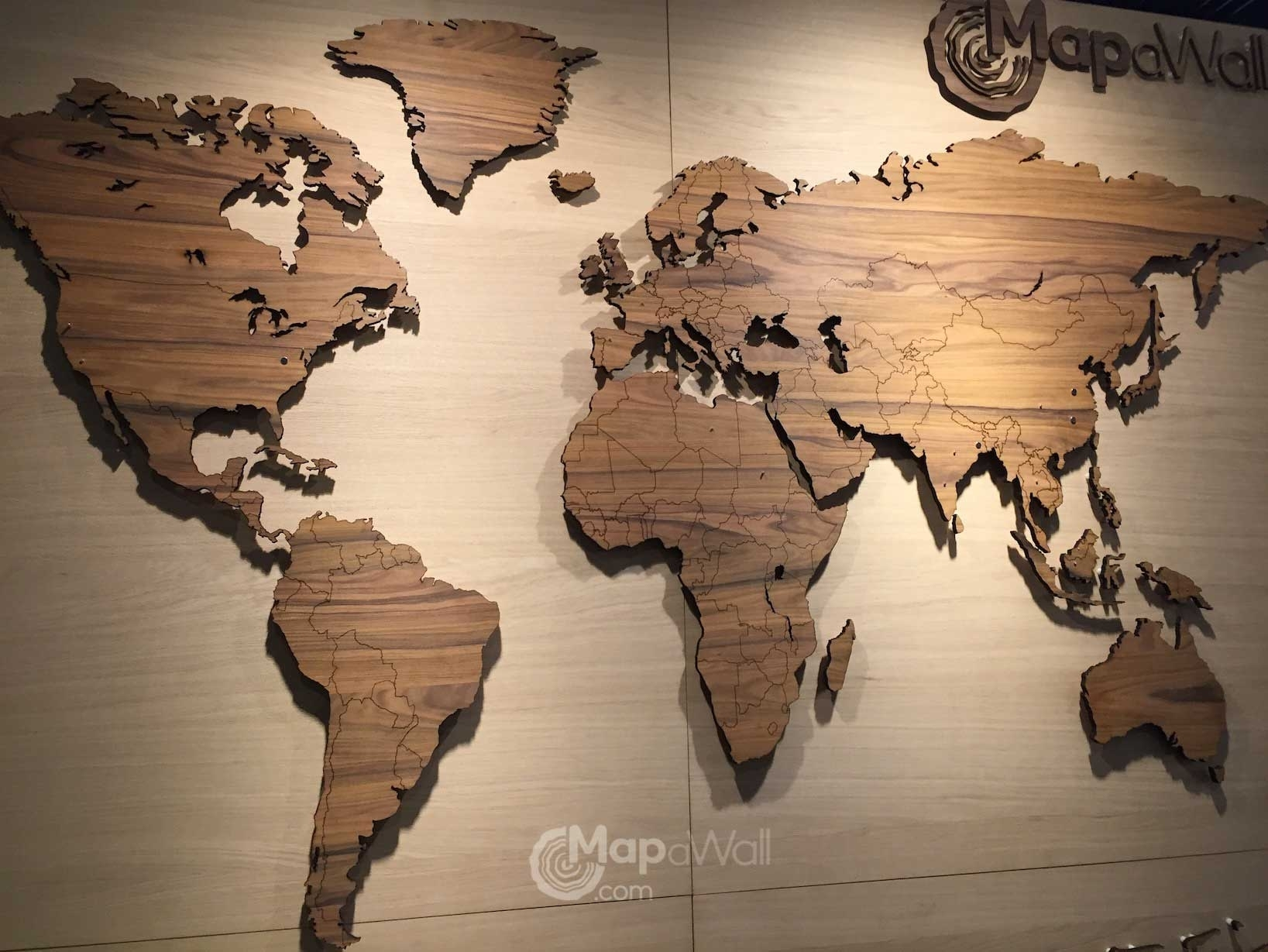Amazing Wooden World Map Wall Art 9 – Link Italia With Regard To 2017 Wall Art Map Of World (View 5 of 20)