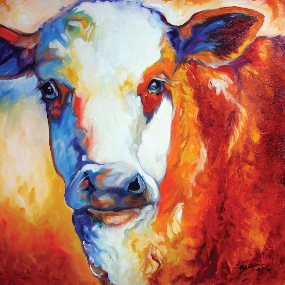 Amazon – Memoo Cow Canvas Wall Art – Prints | Paintings For Recent Cow Canvas Wall Art (View 6 of 20)