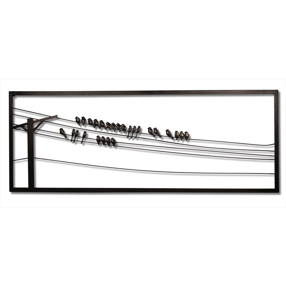 Amazon : Plastec Wd202Db Birds On A Wire Dark Bronze Wall Decor In Recent Birds On A Wire Wall Art (View 1 of 20)