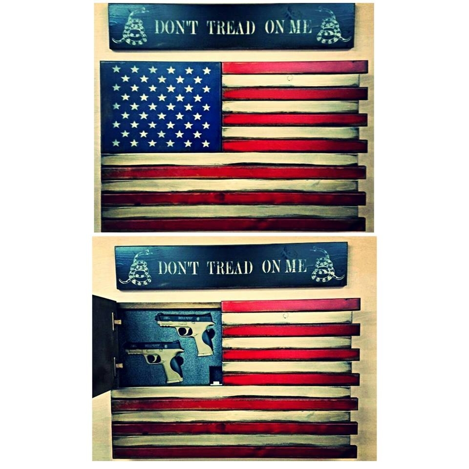 American Flag Home Defense Concealment Wall Art Throughout Latest American Flag Wall Art (View 3 of 15)