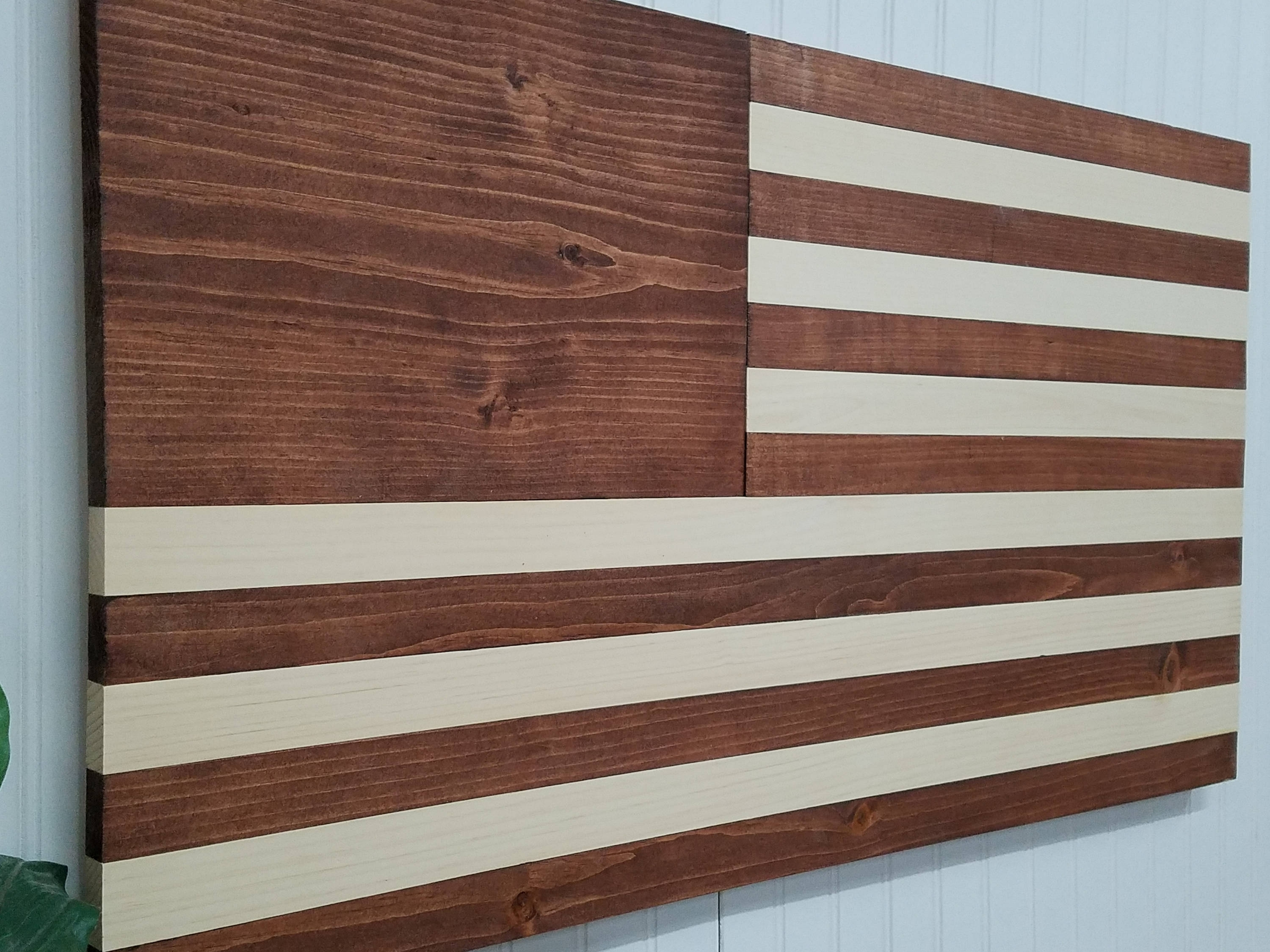 American Flag Theme Wooden Wall Mount Art Decor Usa Decoractive Regarding Newest Rustic American Flag Wall Art (View 1 of 20)