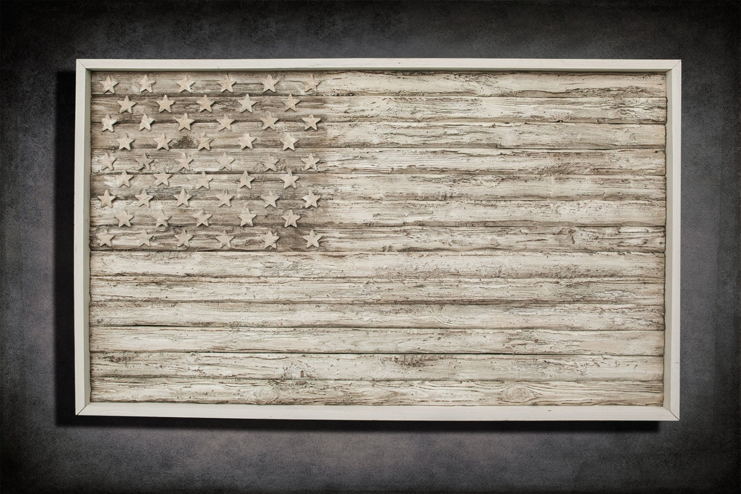 American Flag, Weathered Wood, One Of A Kind, 3d, Wooden, Vintage With Latest Wooden American Flag Wall Art (View 16 of 20)