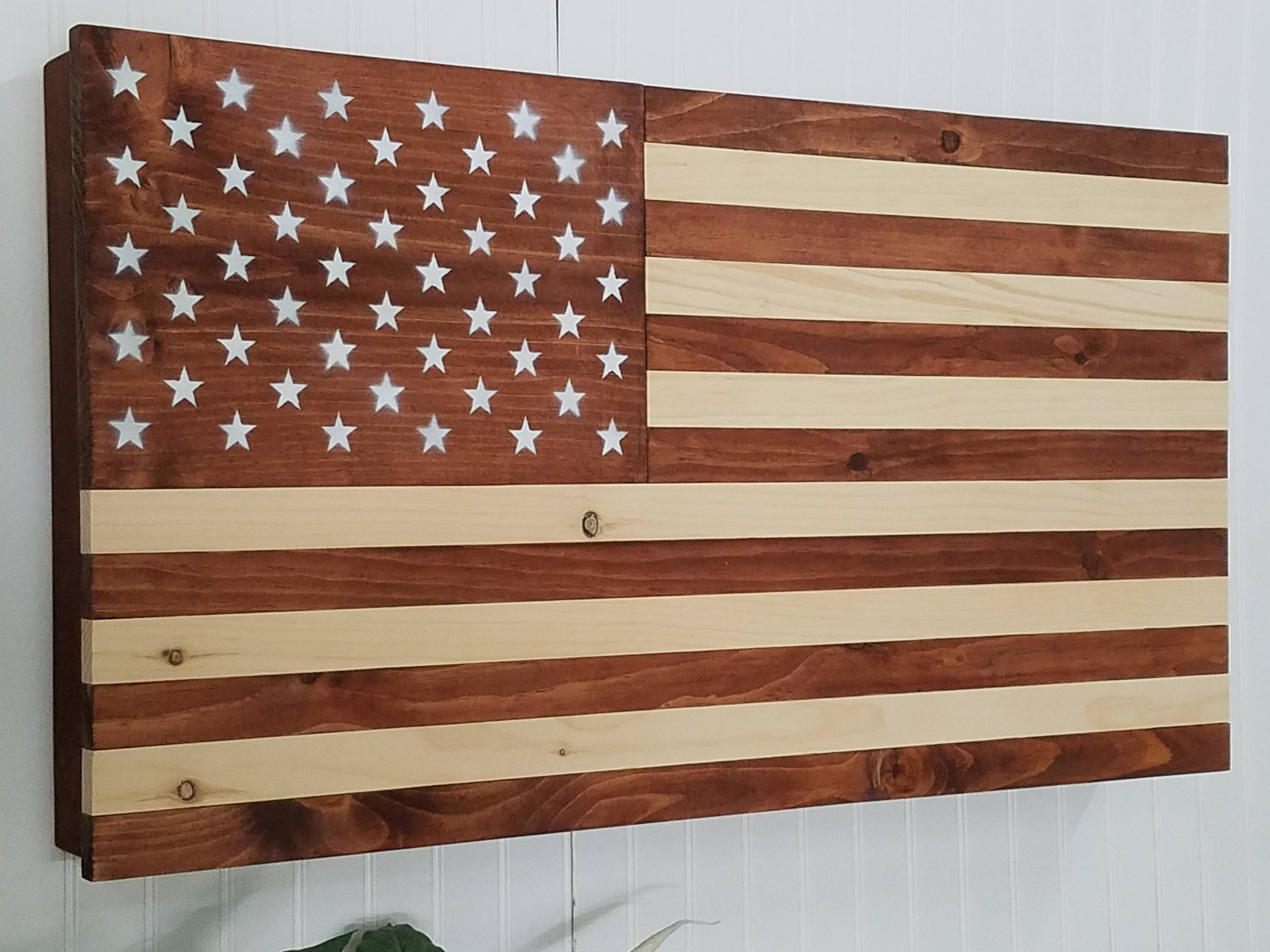 American Flag Wooden Concealment Furniture Compartment Cabinet Inside Most Recent Wooden American Flag Wall Art (View 5 of 20)