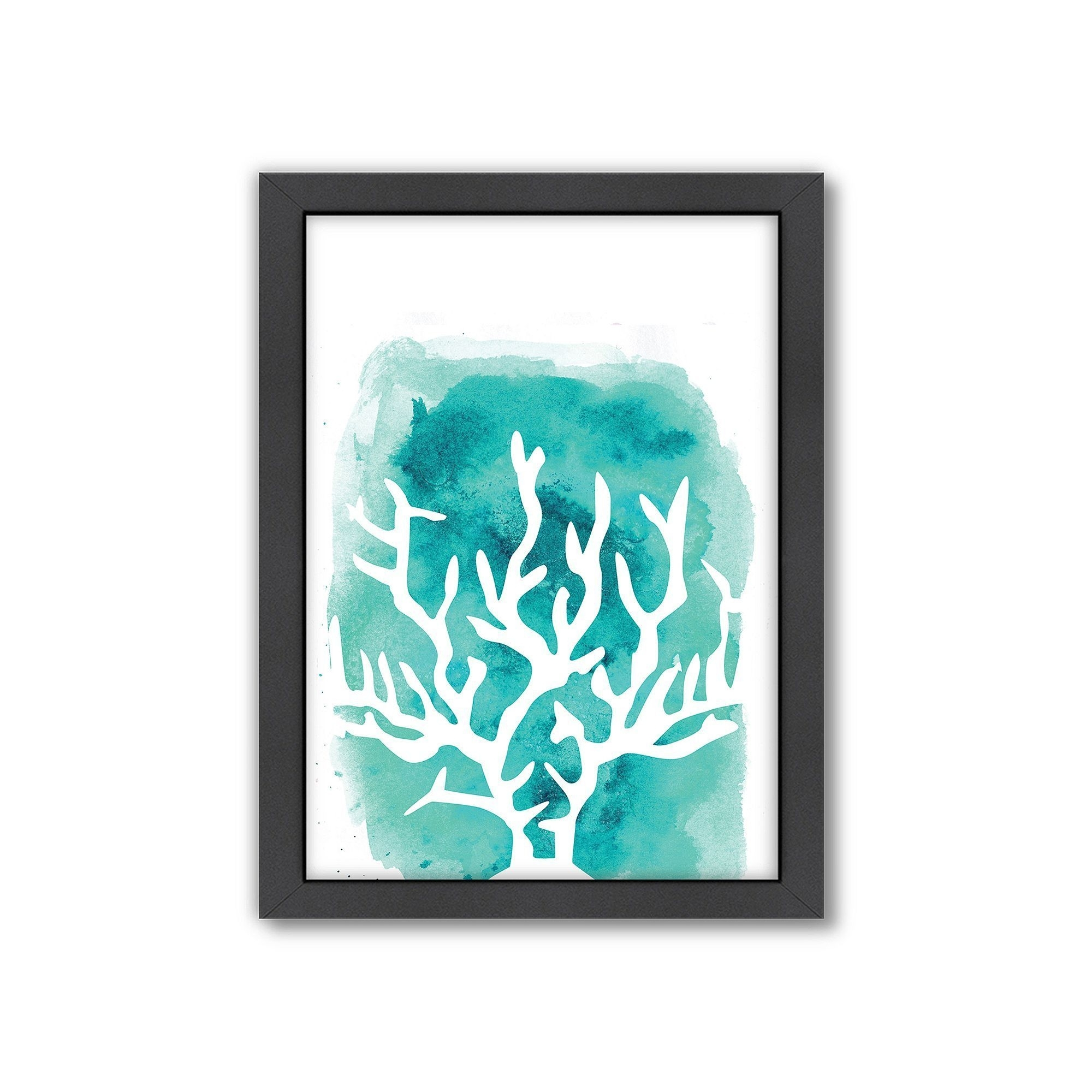 Americanflat Coral Framed Wall Art, Grey | Framed Wall Art And Products Throughout Most Recently Released Coral Wall Art (View 3 of 20)