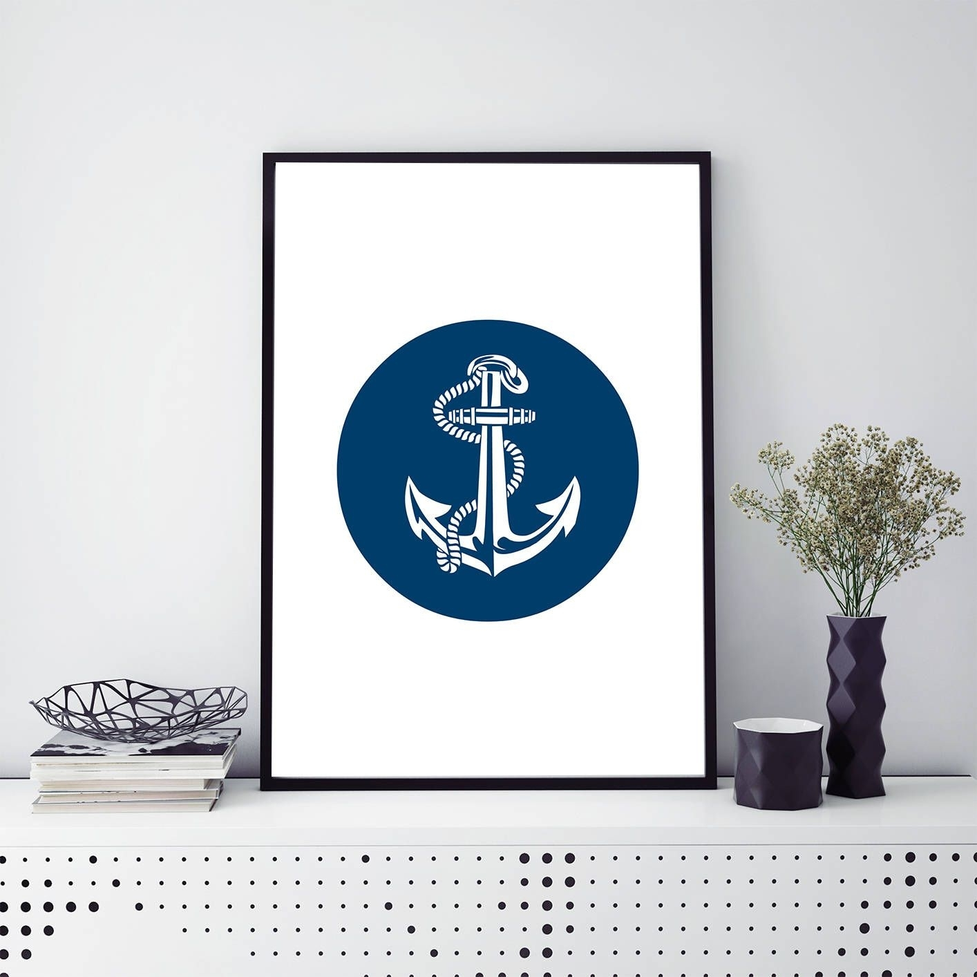 Anchor Print Printable Nautical Wall Art Digital Download Beach With Regard To Newest Anchor Wall Art (View 5 of 20)
