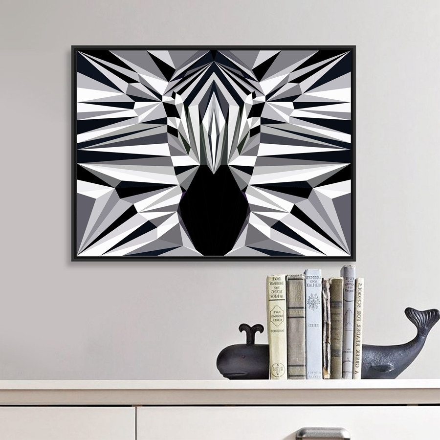 Animal Elephant Butt Canvas Print Modern Decor Wall Picture Zebra With 2018 Zebra Canvas Wall Art (View 5 of 20)
